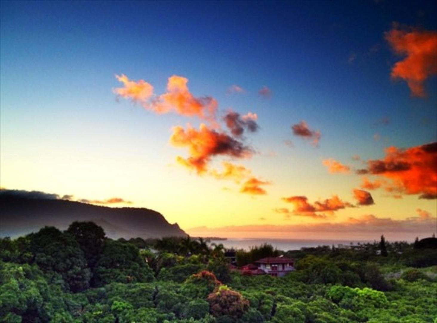 Beautiful scenery surrounds you.