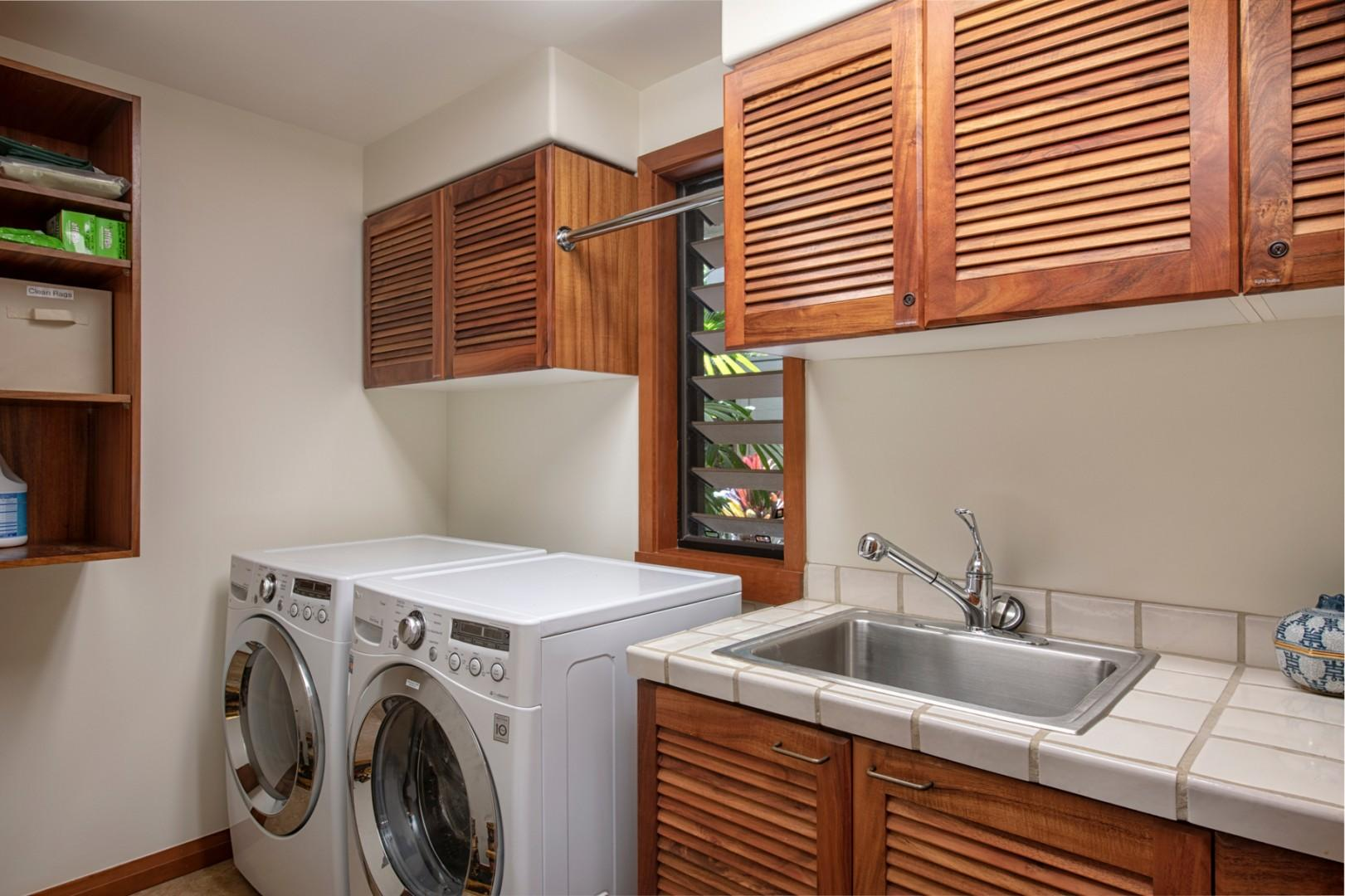 Dedicated laundry room.