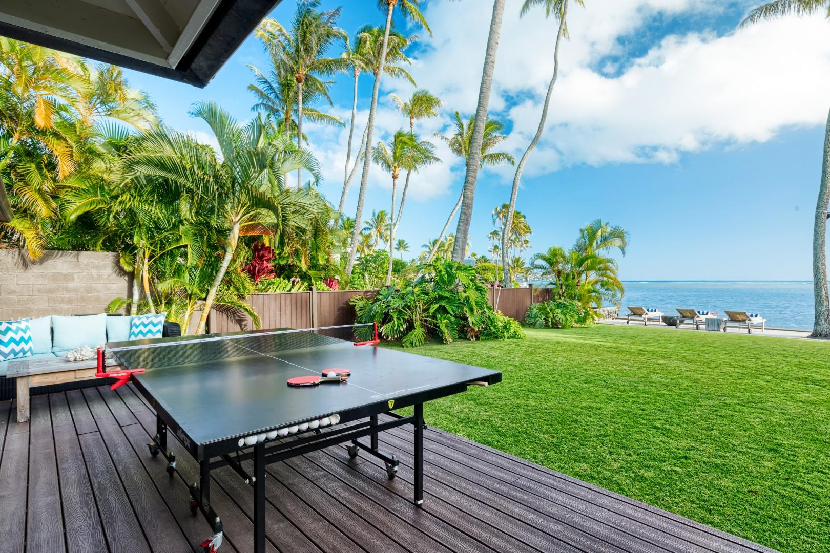 Your very own ping-pong table, available to be set up before your arrival! Just let your reservation manager know you would like it.