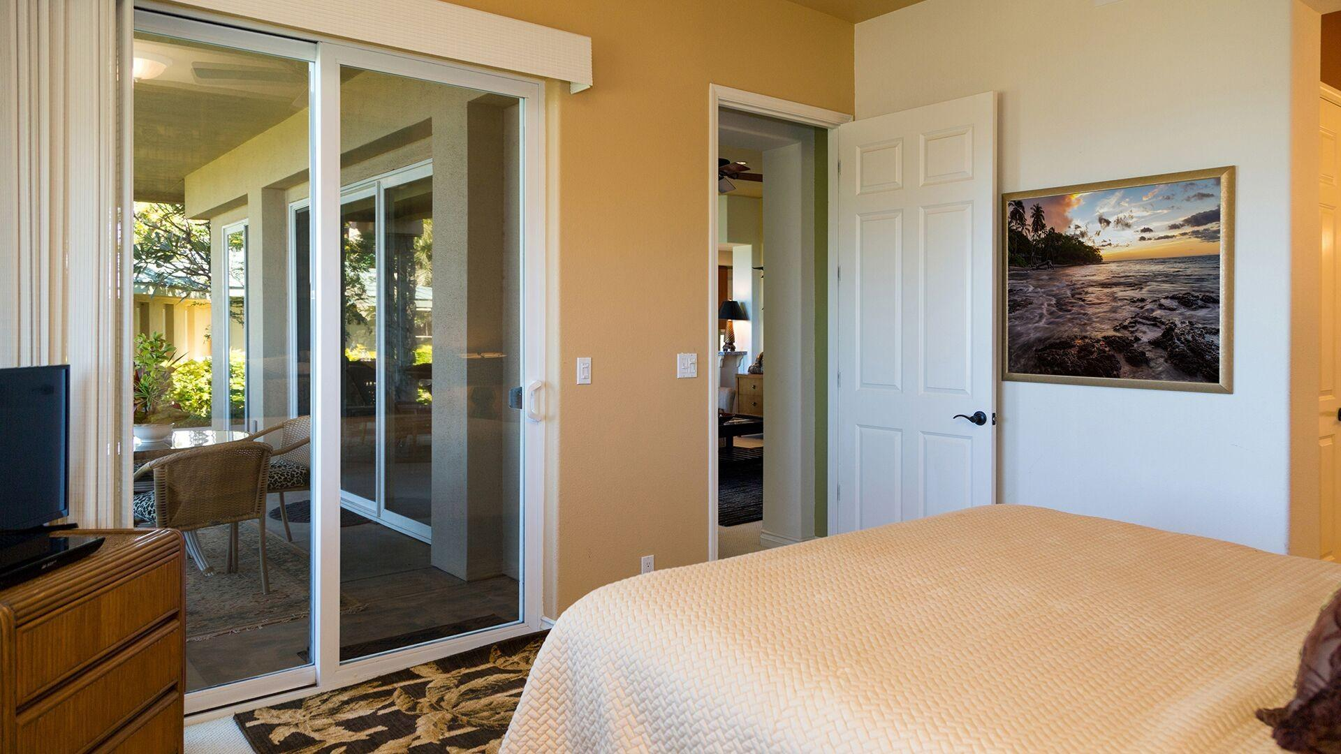 The Master Bedroom has it's own private entrance to the lanai.