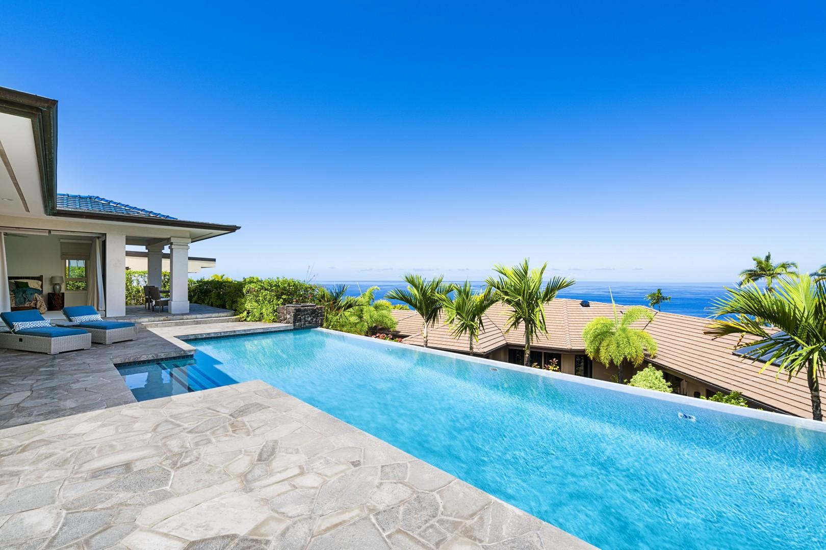 Large lap pool, perfect for exercise and fun!