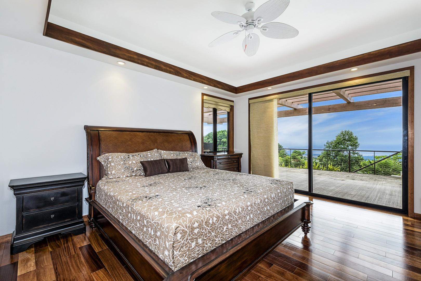 Guest bedroom with King bed and Lanai access!