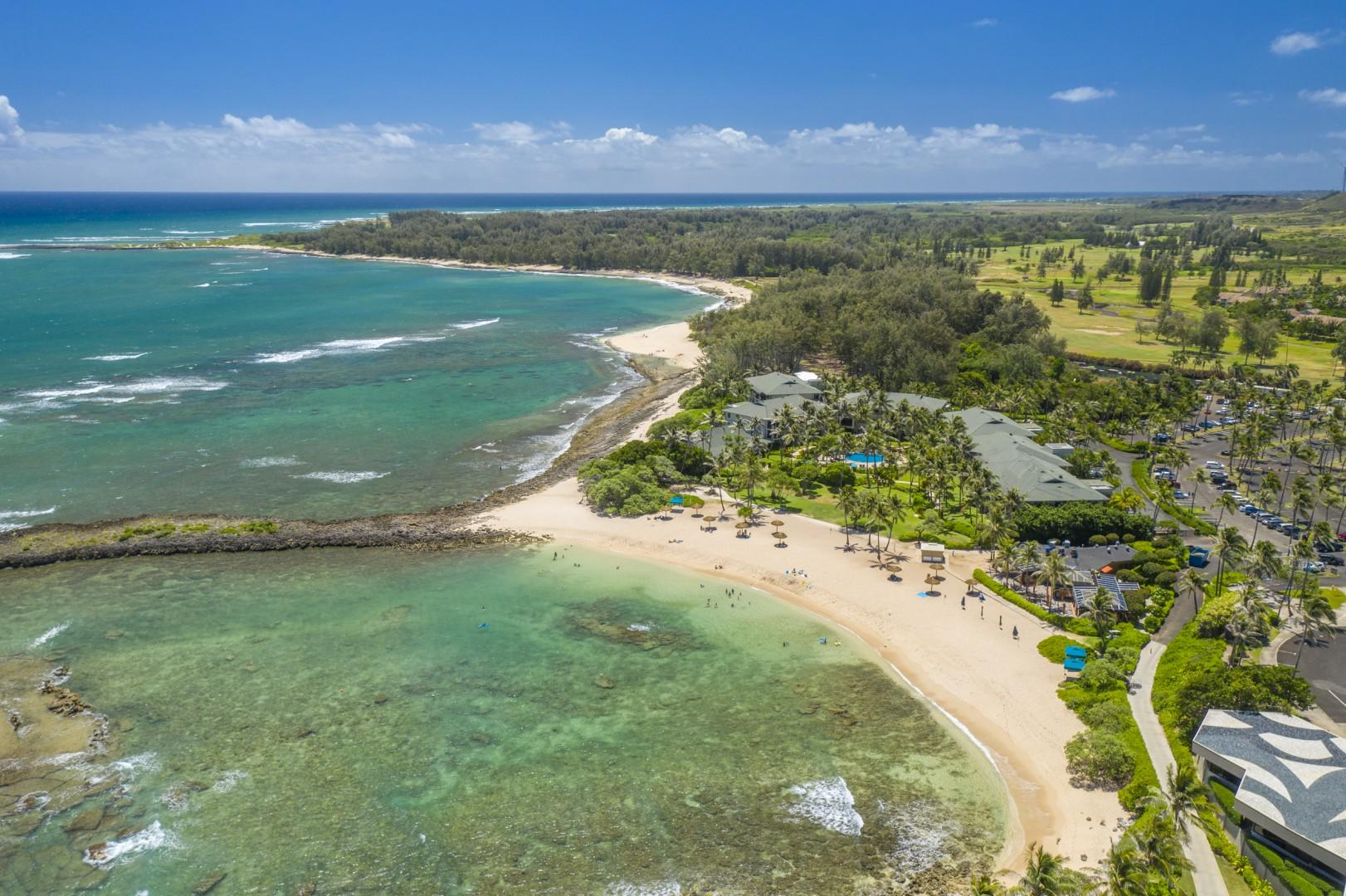 Aerial View of Kuilima Cove