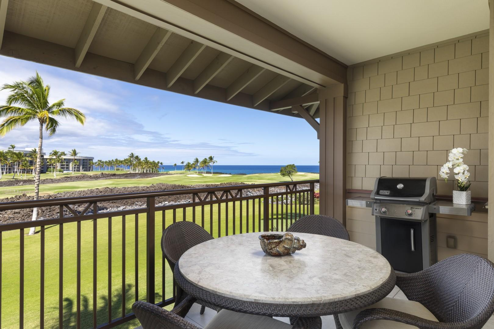 Alfresco dining on your private lanai is completed with your own BBQ to use.