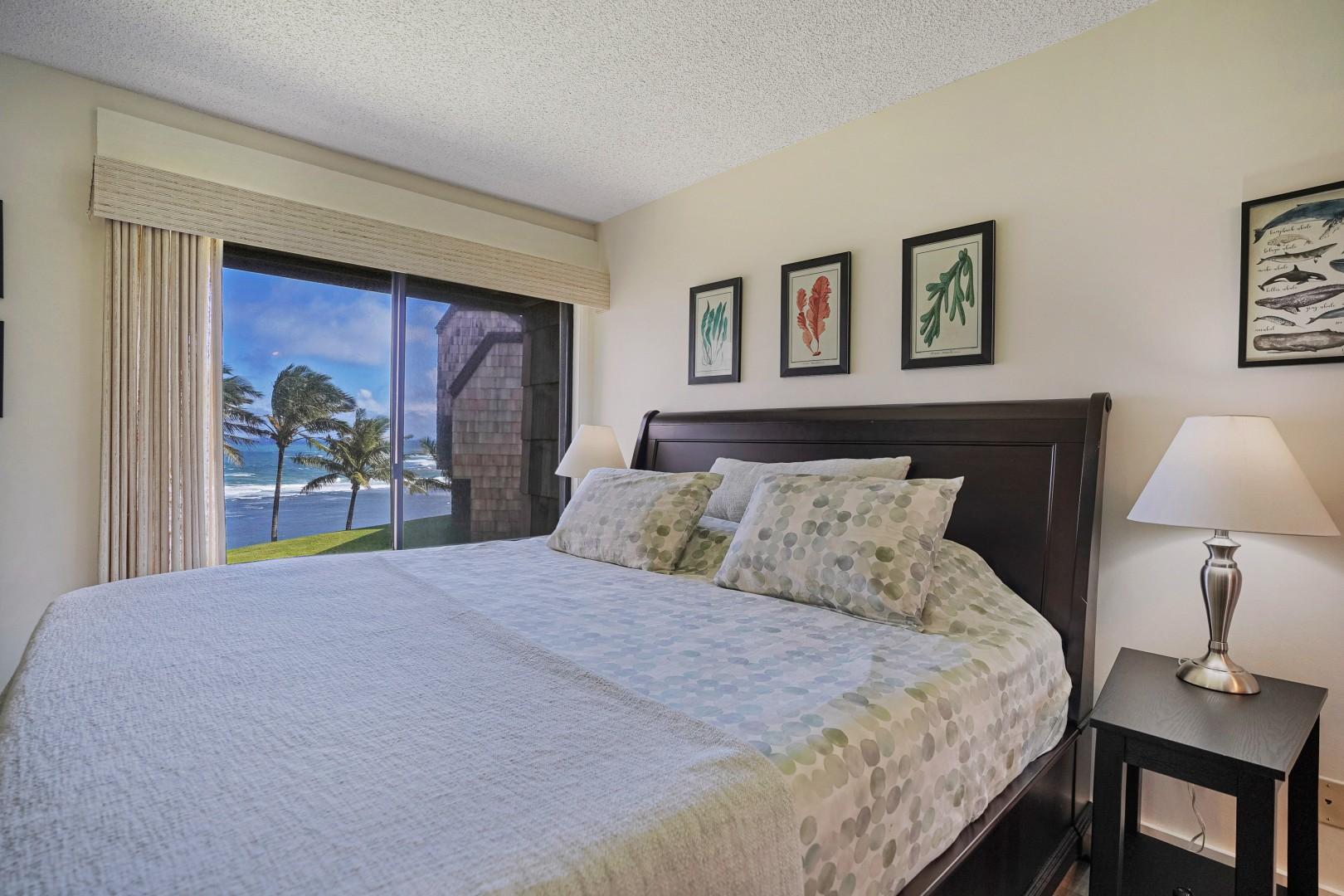 Ocean-view master bedroom