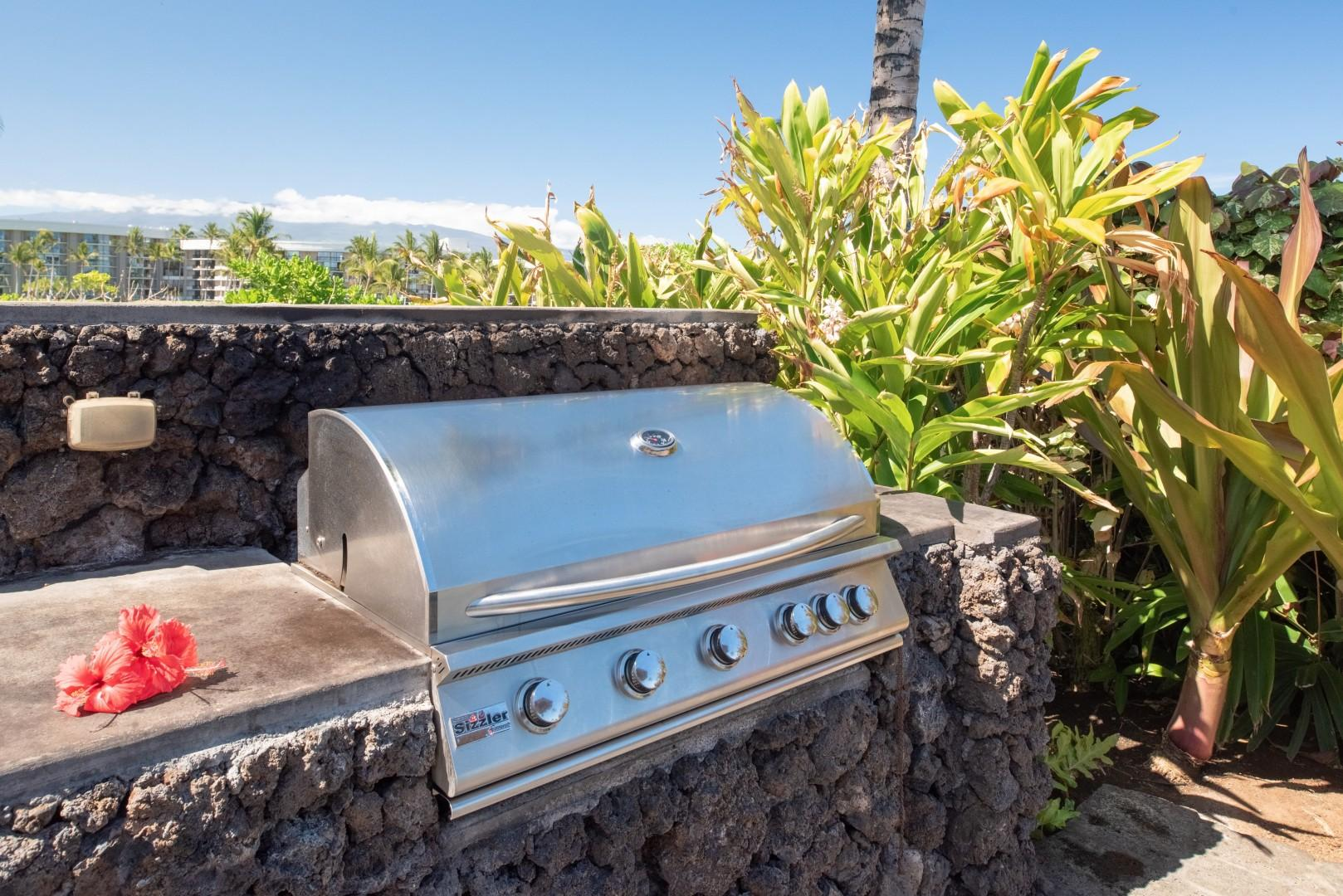 Another grilling alternative at the Hali'i Kai Resort's private amenity center by the pool.