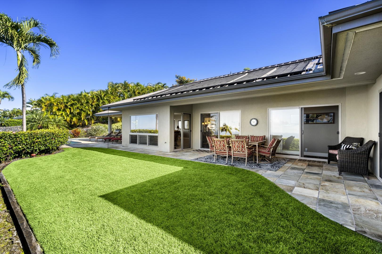 Small lawn for adults and kids to enjoy outdoor activities!