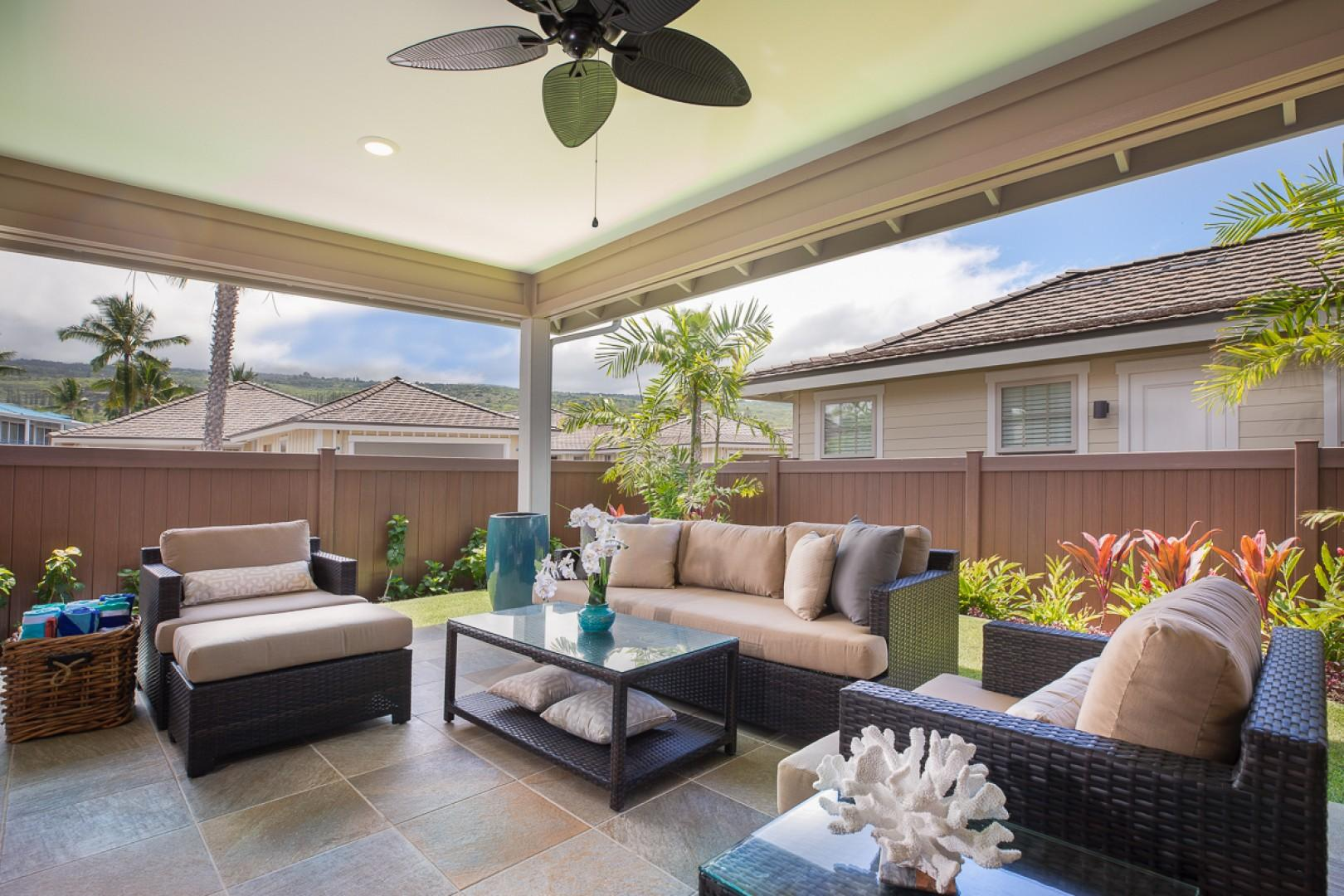 Perfect private lanai for relaxing