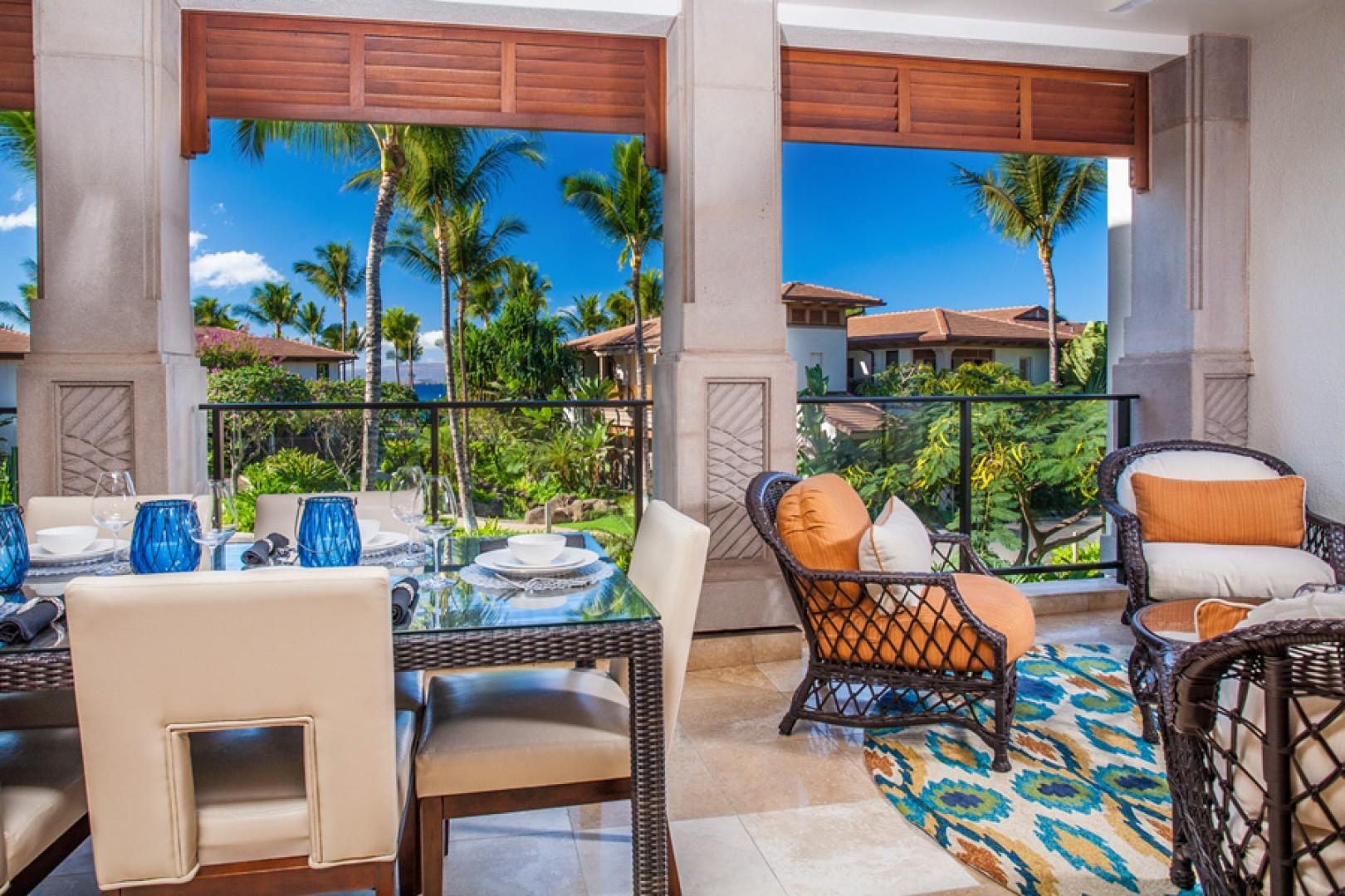 Castaway Cove C201 - Ocean View Fresh Air Covered Dining Terrace with Viking BBQ Grill and Chat Area