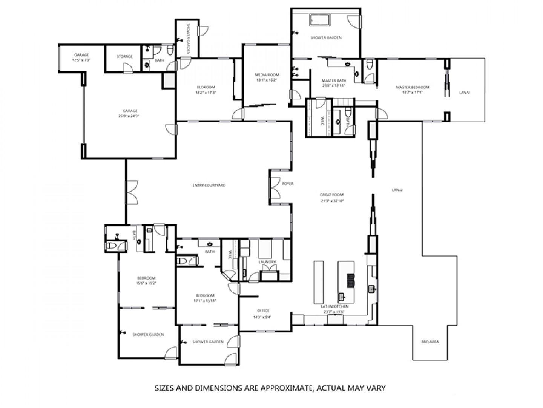 Floor plan of home.