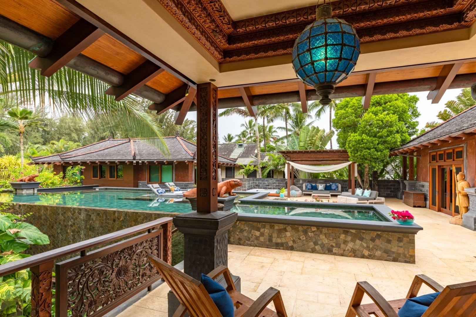 Pool Courtyard view from Guest Bedroom