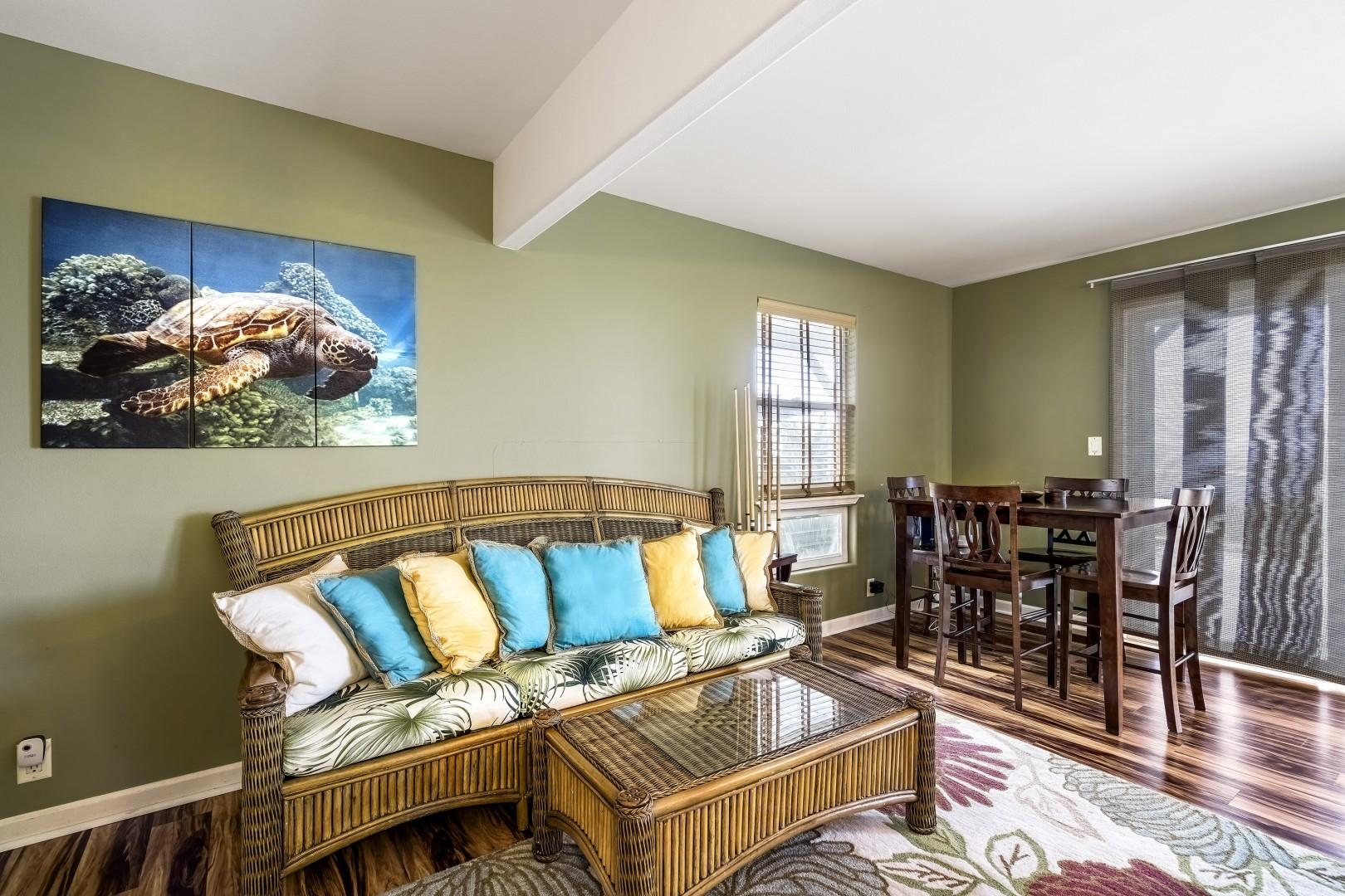 Family Room with lots of room to entertain