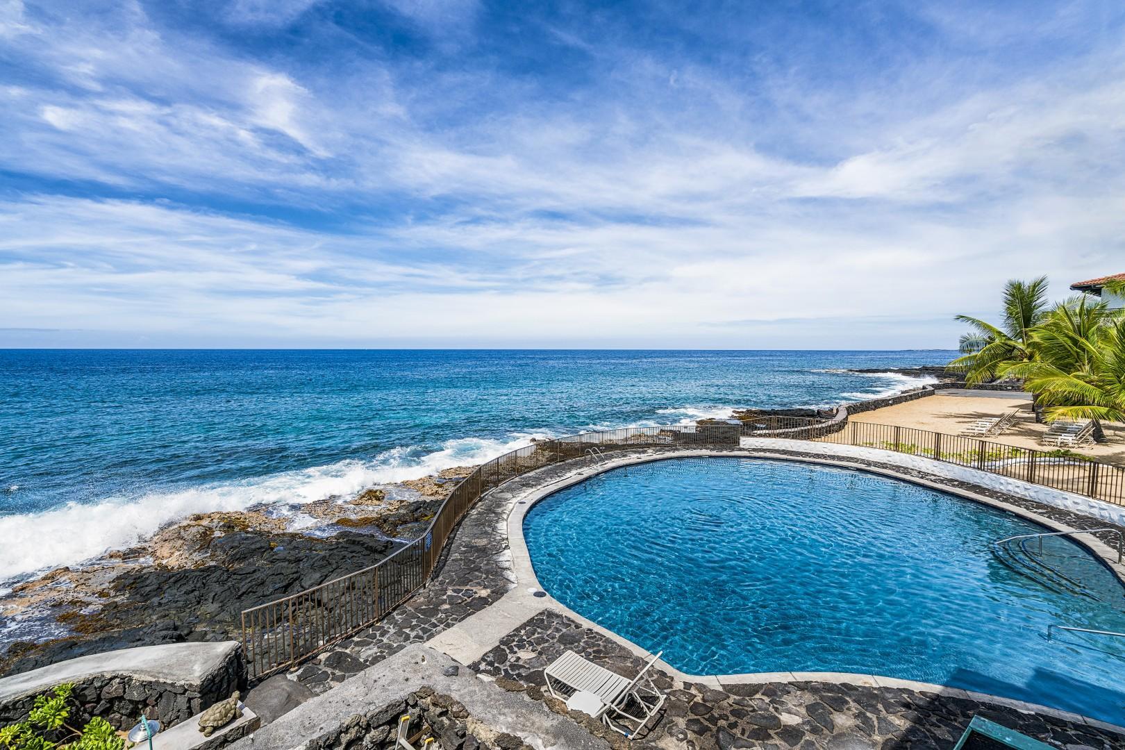 Ocean side salt water pool
