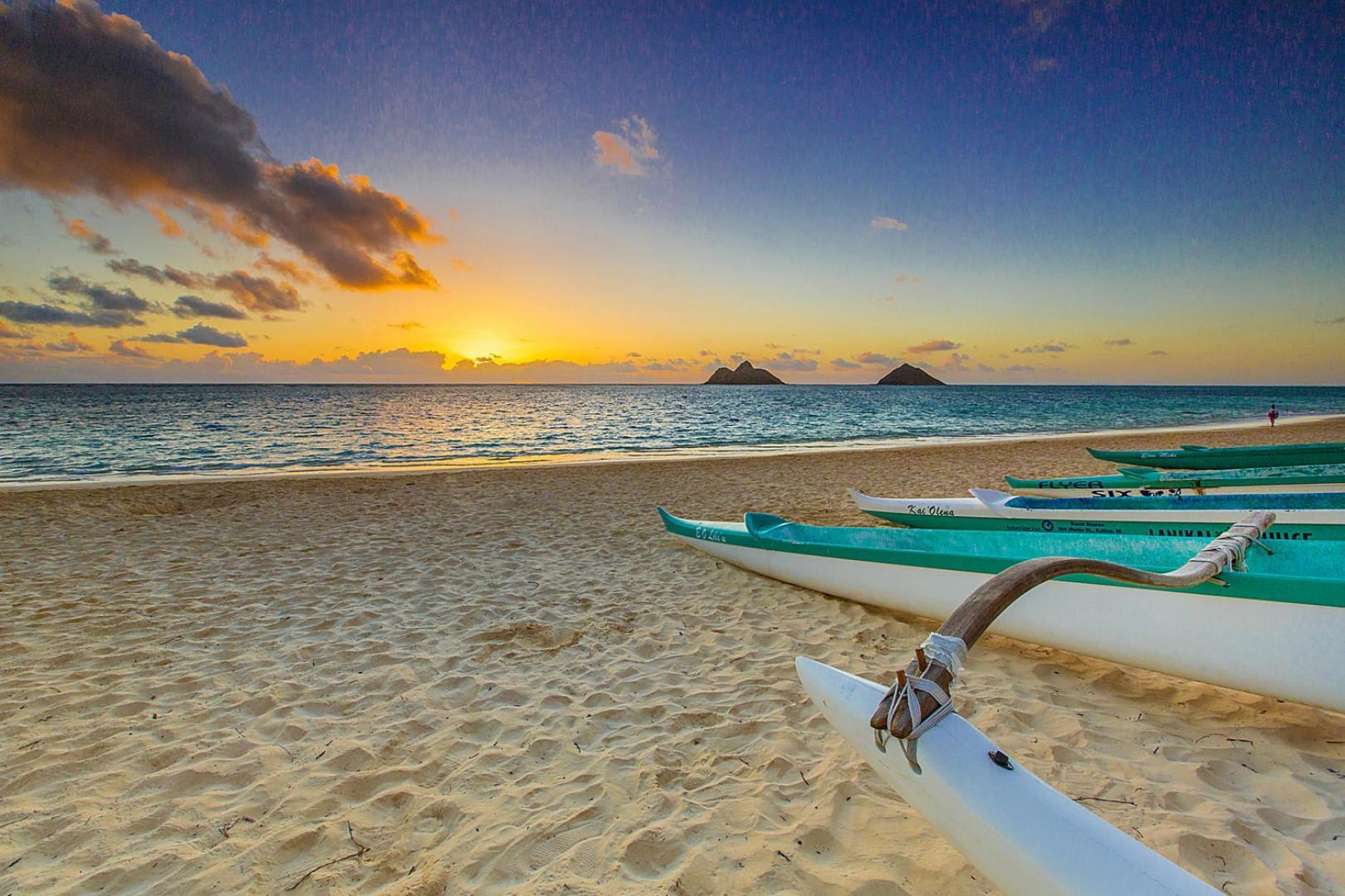 Lanikai Beach: a short five- to 10-minute walk or one-minute drive away.