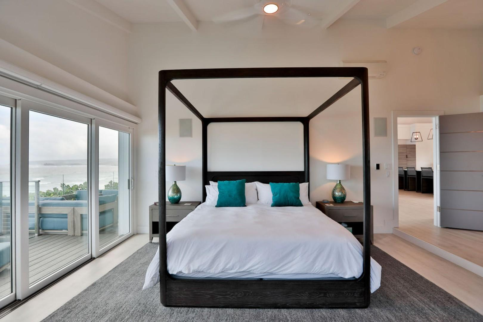2nd Master Bedroom with ocean views and lanai access
