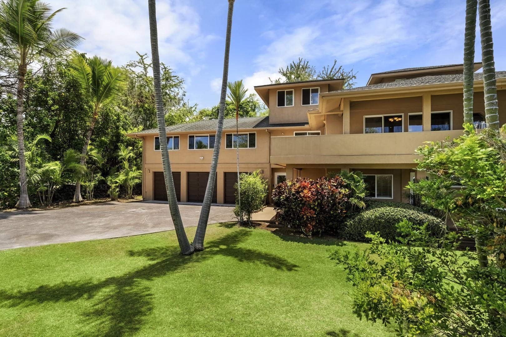 Lush and manicured front lawn