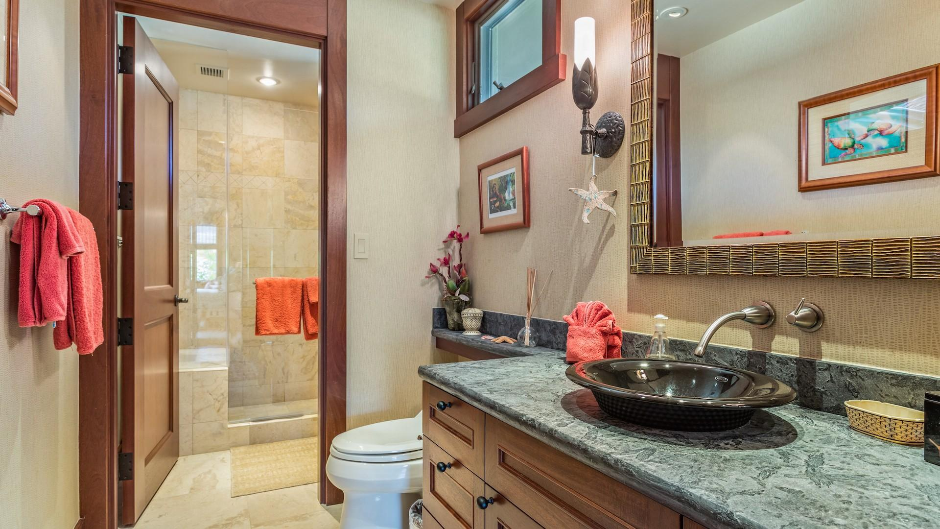 Second Bath with Walk-In Shower, Adjacent to Second Bedroom.