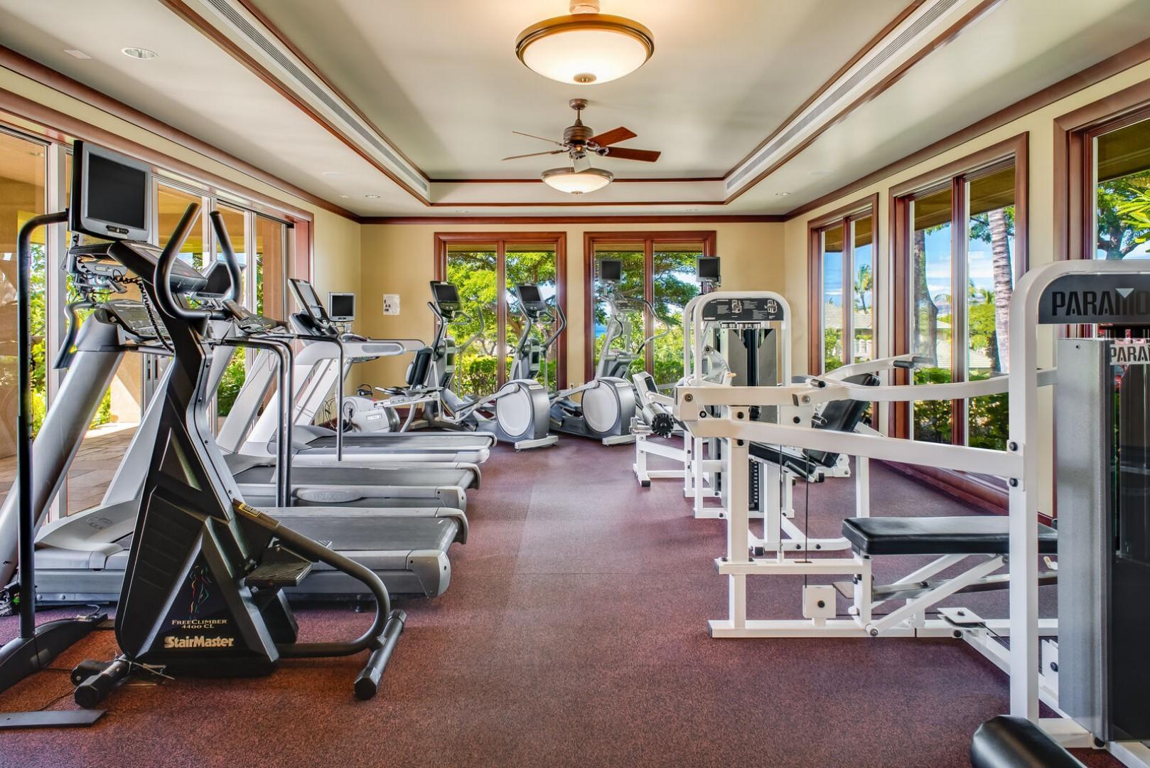 Wai'ula'ua Amenities Center: shared fitness center.
