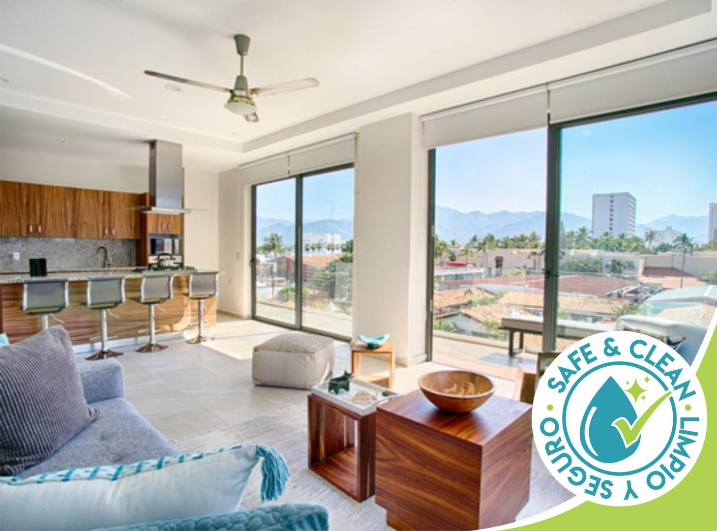 Spacious Condo Great for Families   Pools, Gym, Steps from Beach