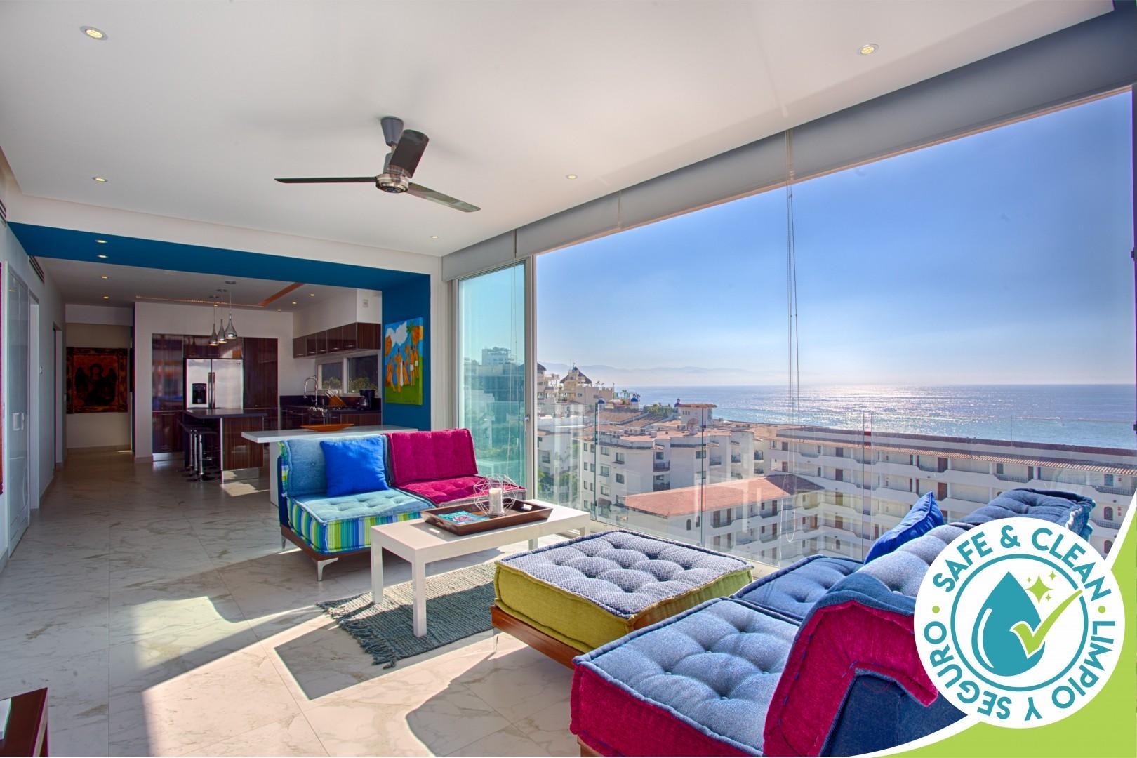 Spectacular Ocean Views at quiet but central D'Terrace Designer Condo