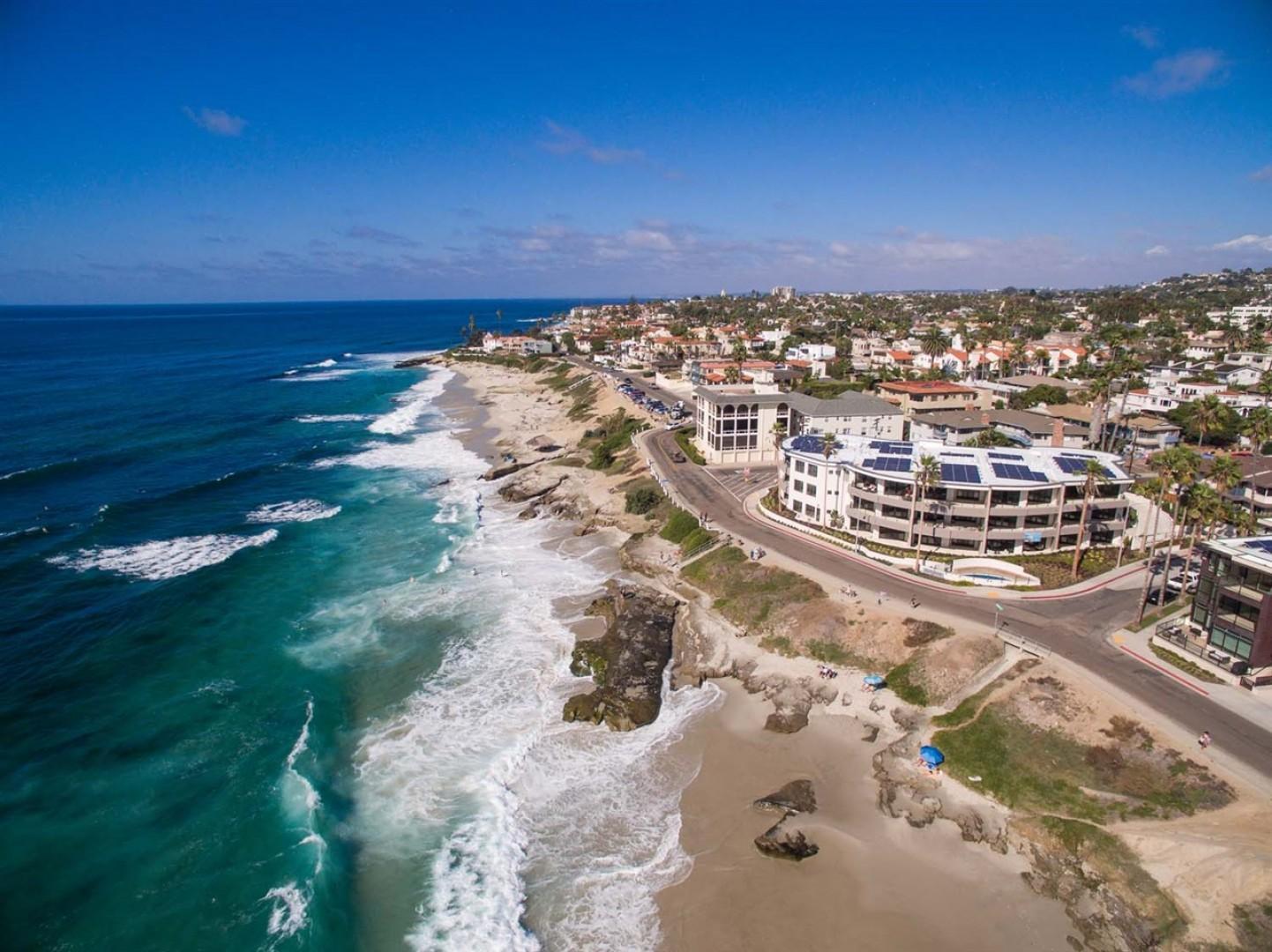 The beautiful coastline of La Jolla in San Diego, California