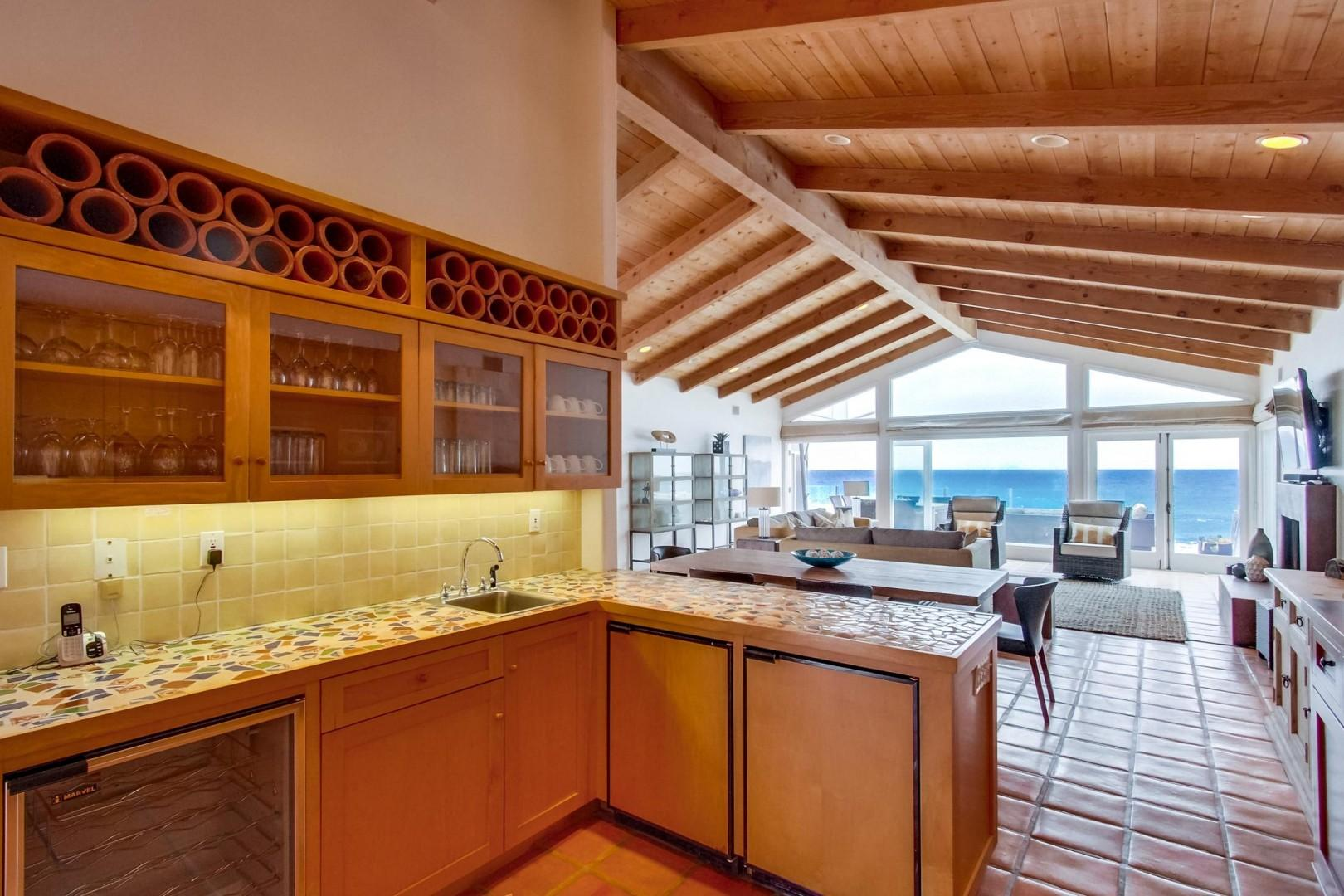 Ocean views while you are cooking