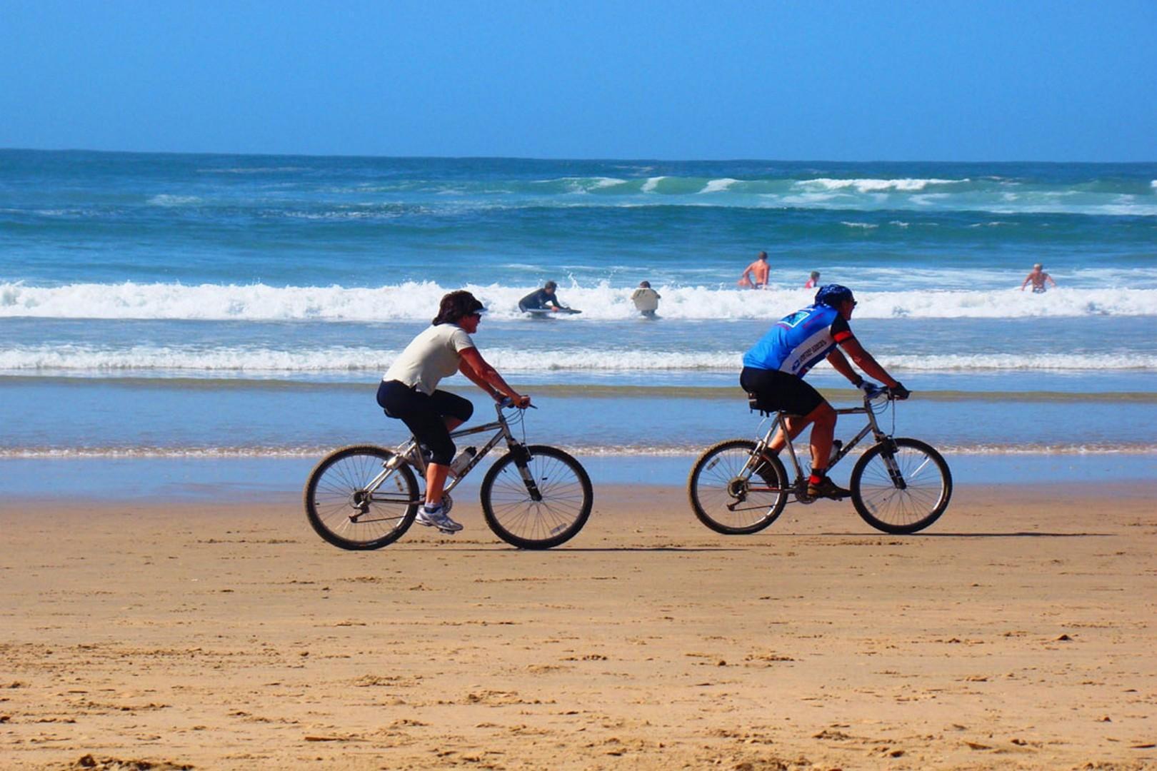 Scenery beach biking
