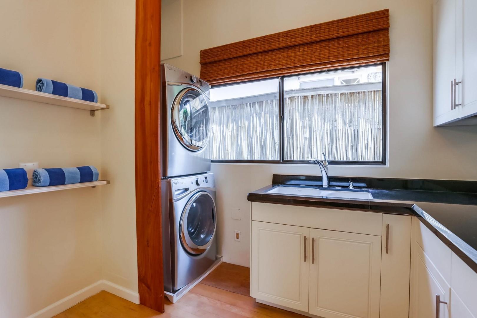 Full-size stack laundry
