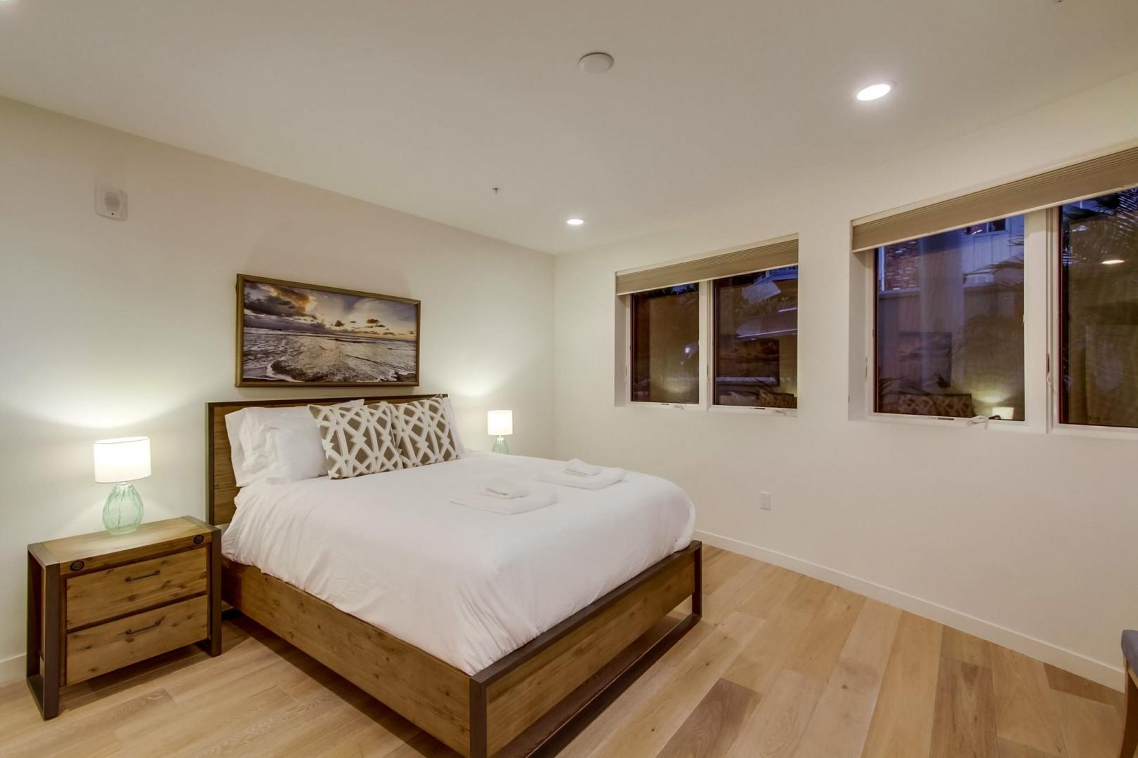 Bedroom 3 features a comfy queen-size and hotel-style linens