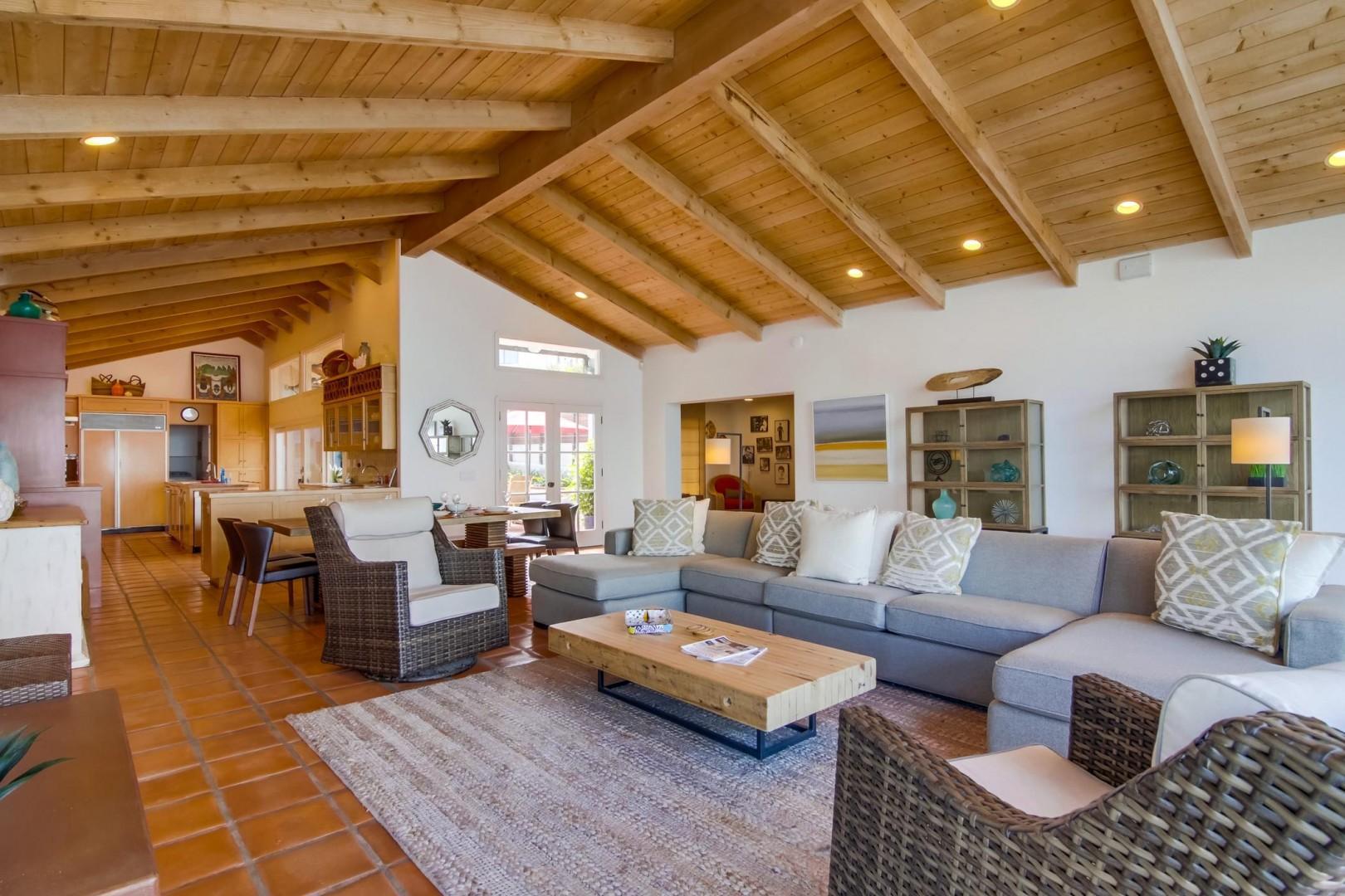 Spacious open concept living room