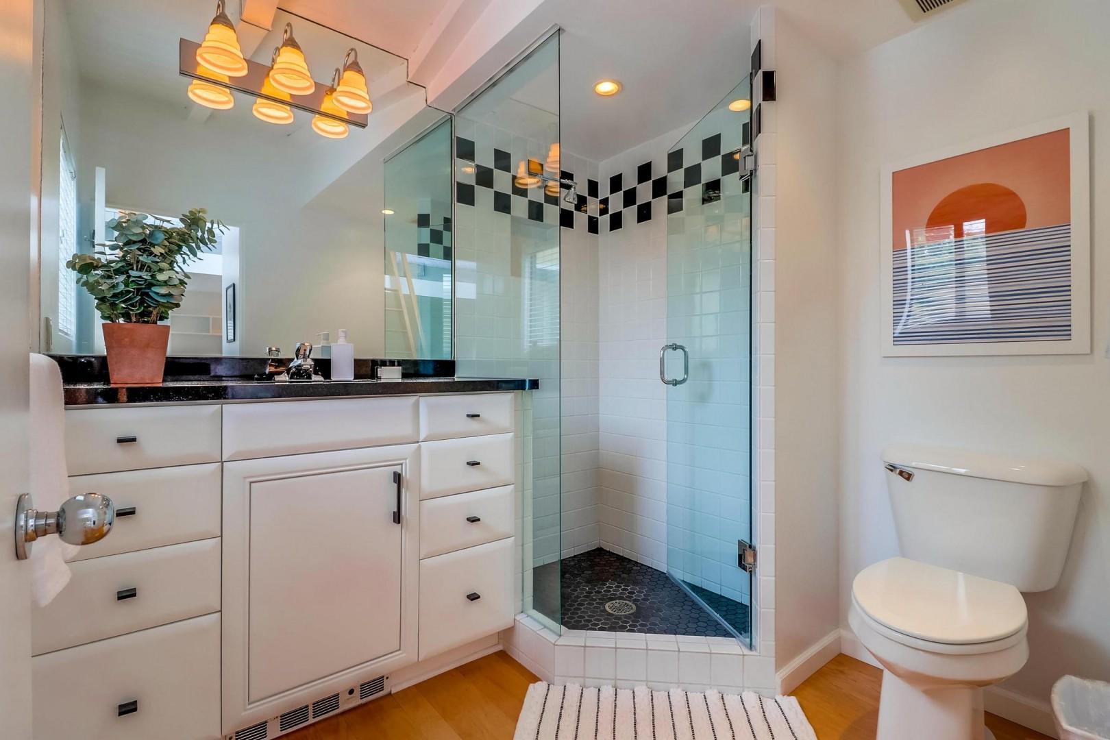 Casita bathroom with shower