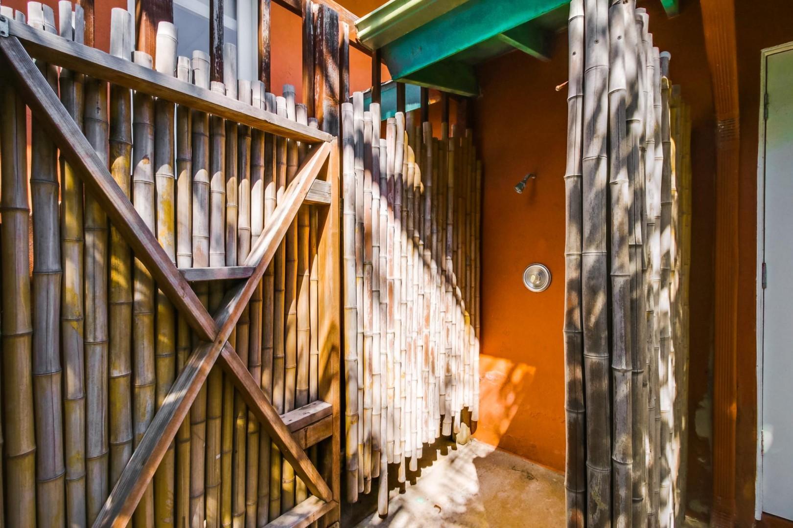 Convenient outdoor shower