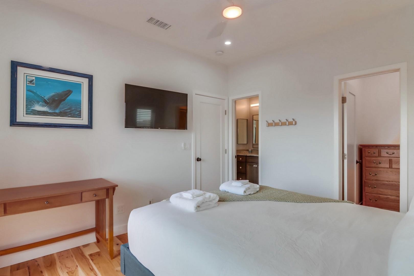 Bedroom suite 1 with TV