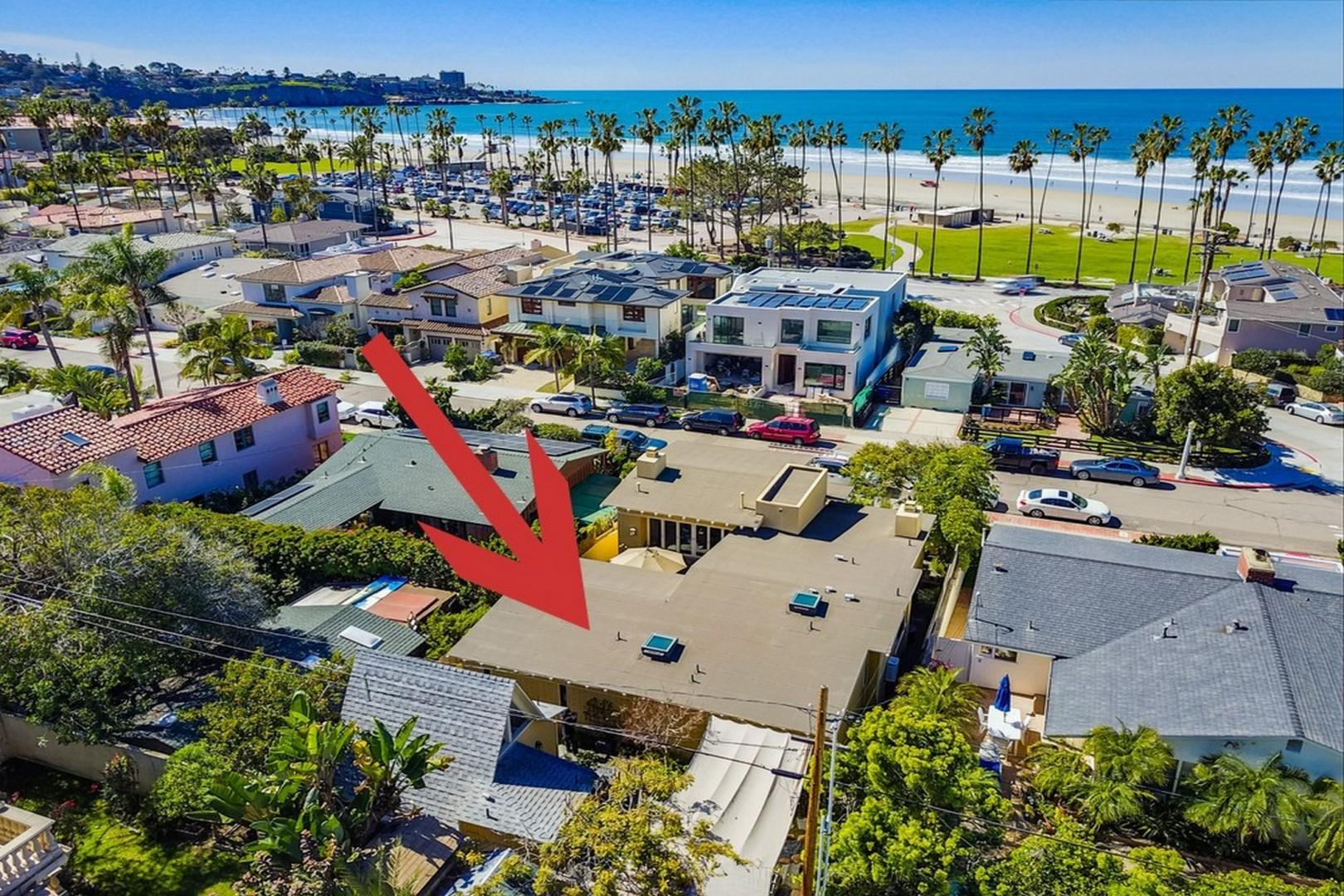 Prime location just off the beach