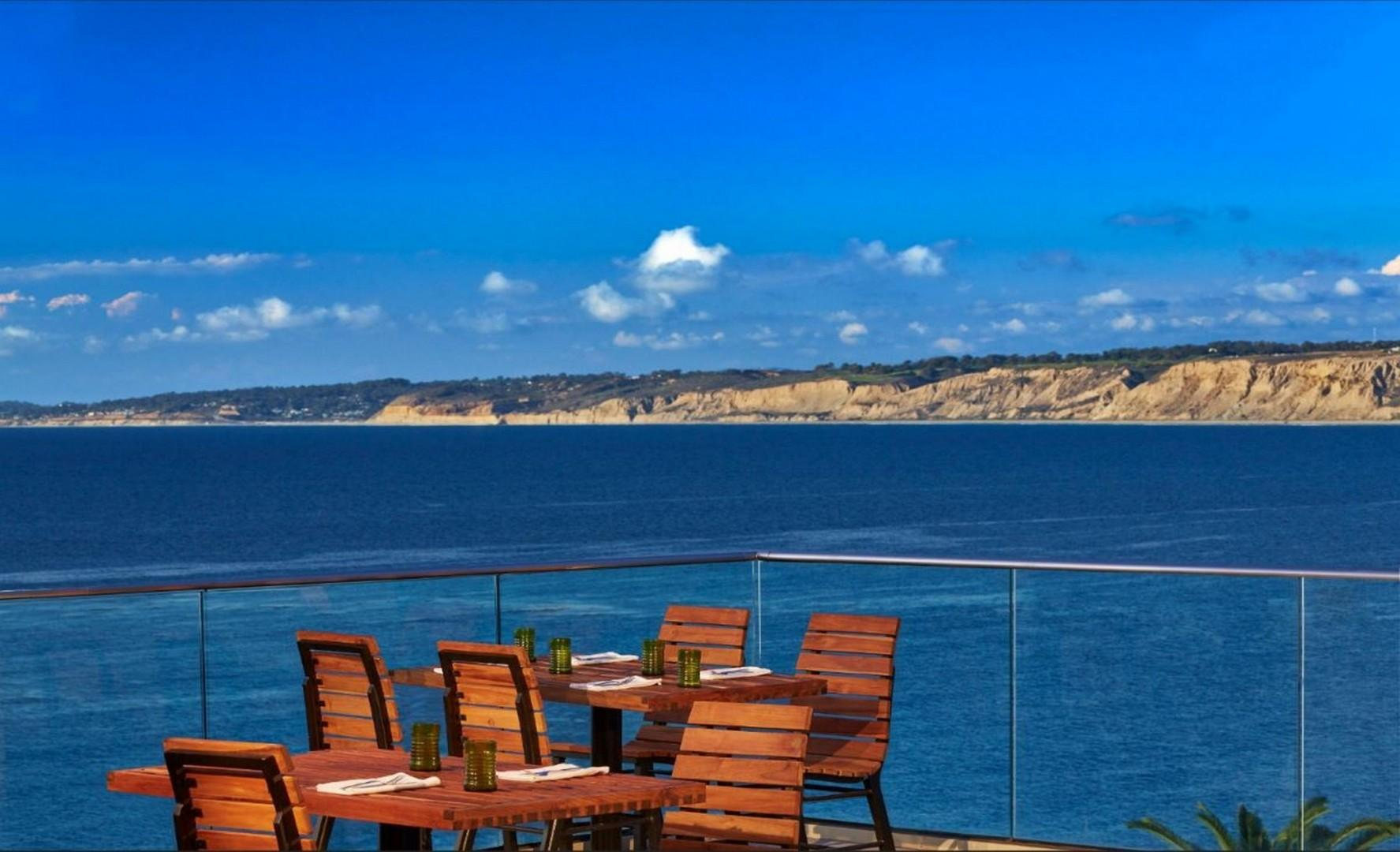 Ocean view dining is popular in La Jolla