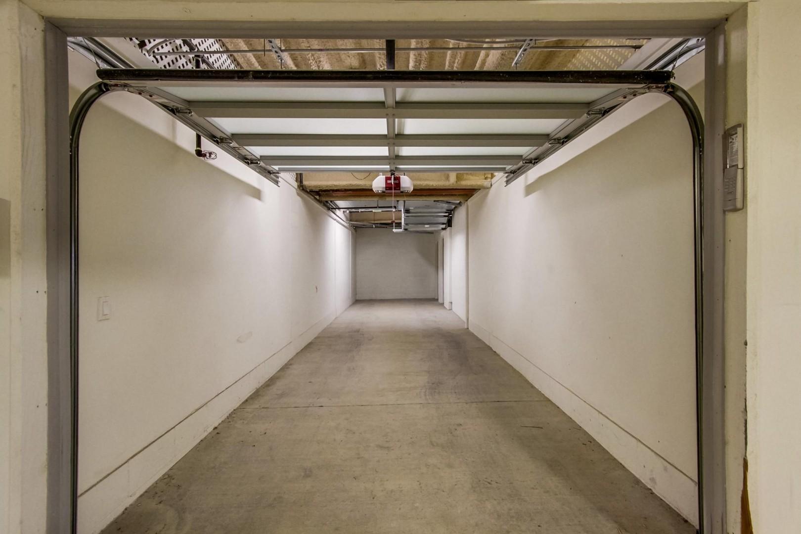 Gated 2-car tandem private garage
