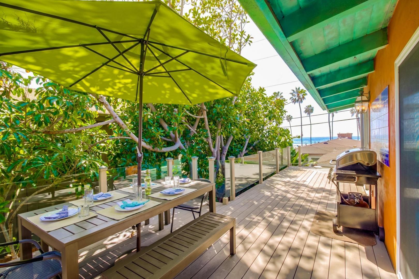 Wrap around deck to ocean views