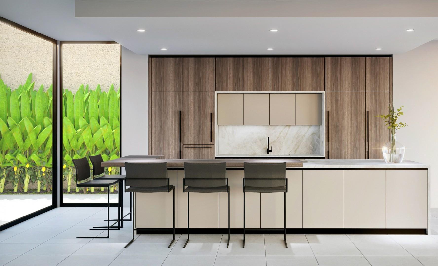 Fully-stocked gourmet kitchen