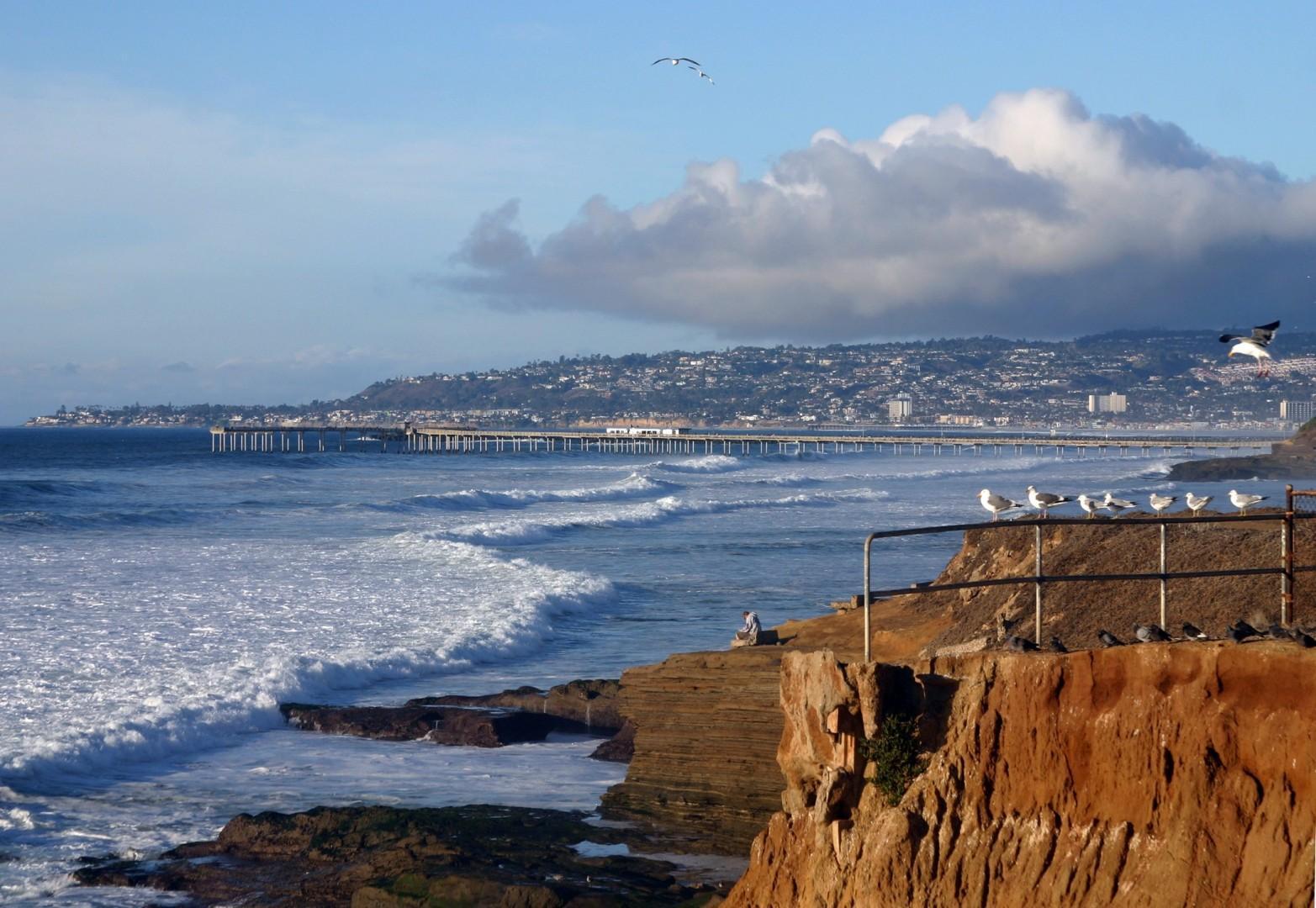 Sunset Cliffs view towards Ocean Beach