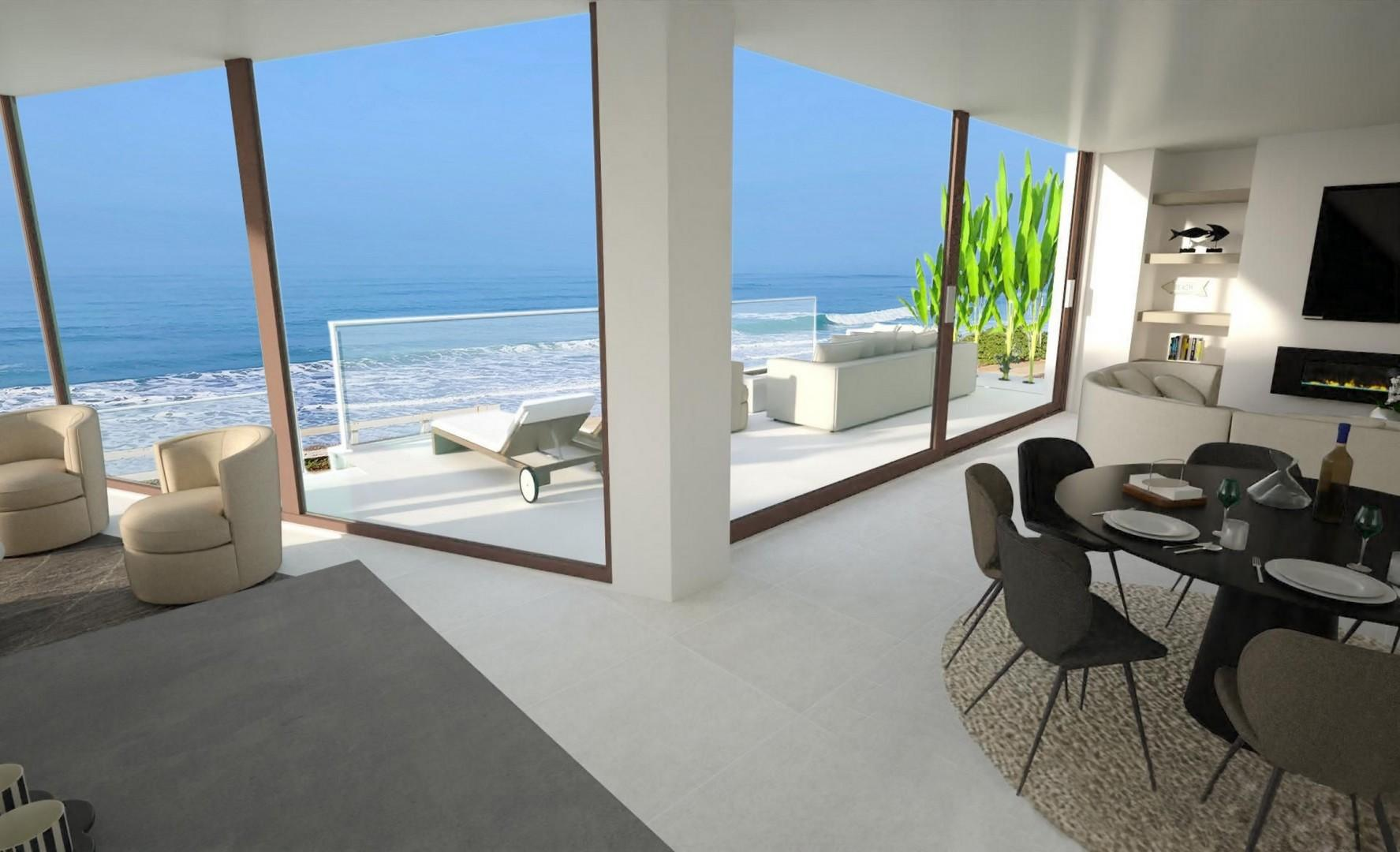 Views over the ocean and pool terrace