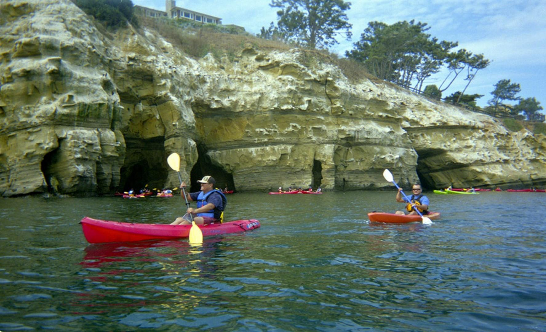 Explore nearby caves at the La Jolla Cove