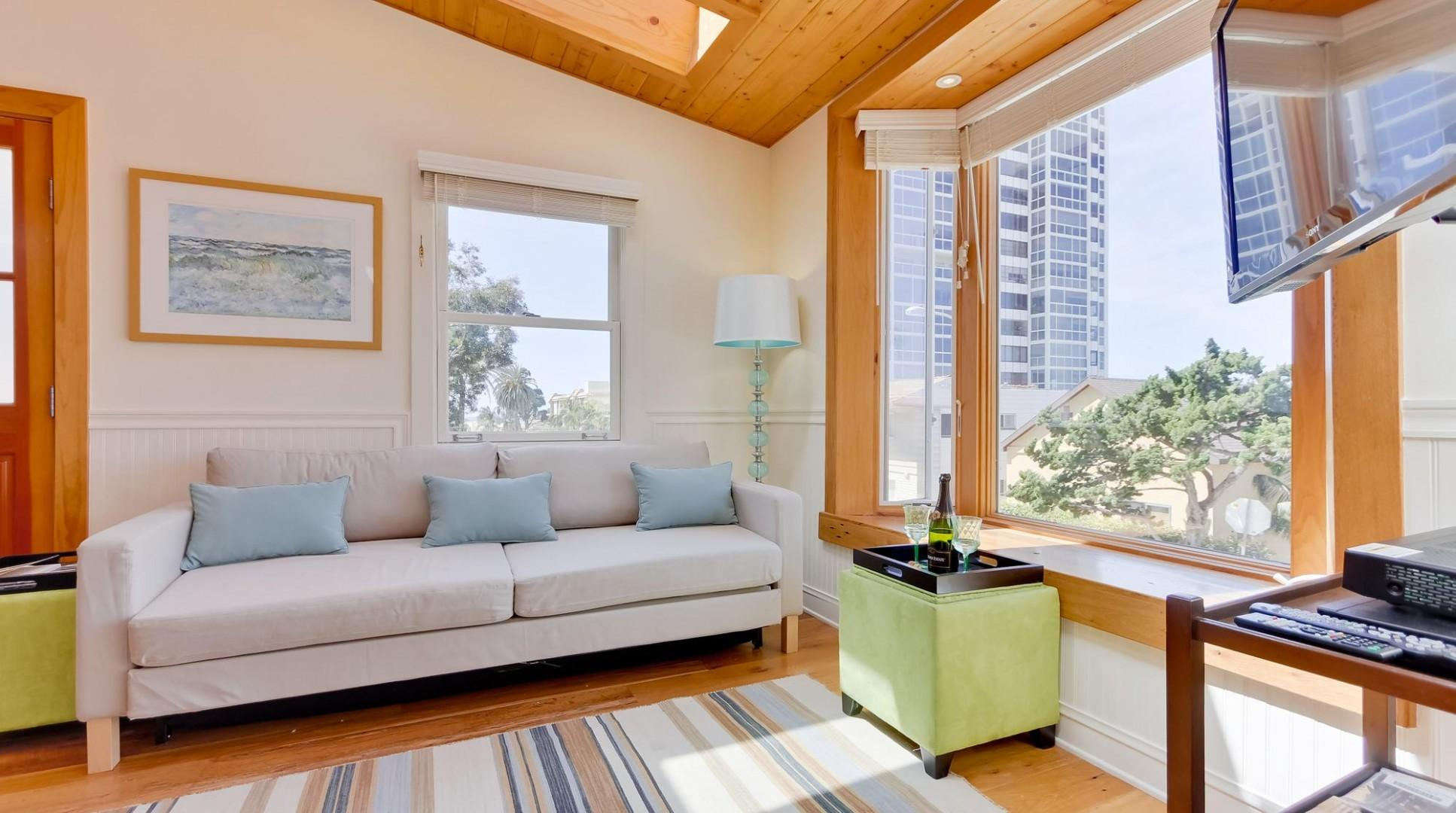 Living room with large windows to provide beautiful views