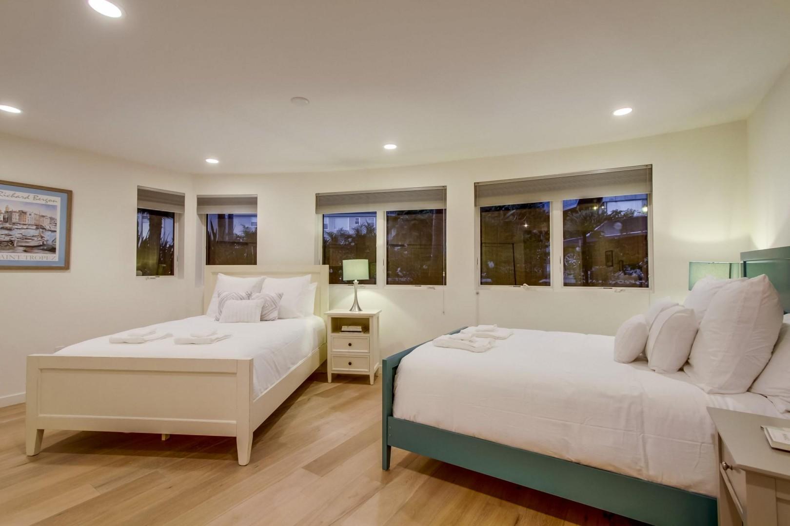 Spacious bedroom 2 has plenty of room for 2 queen size beds