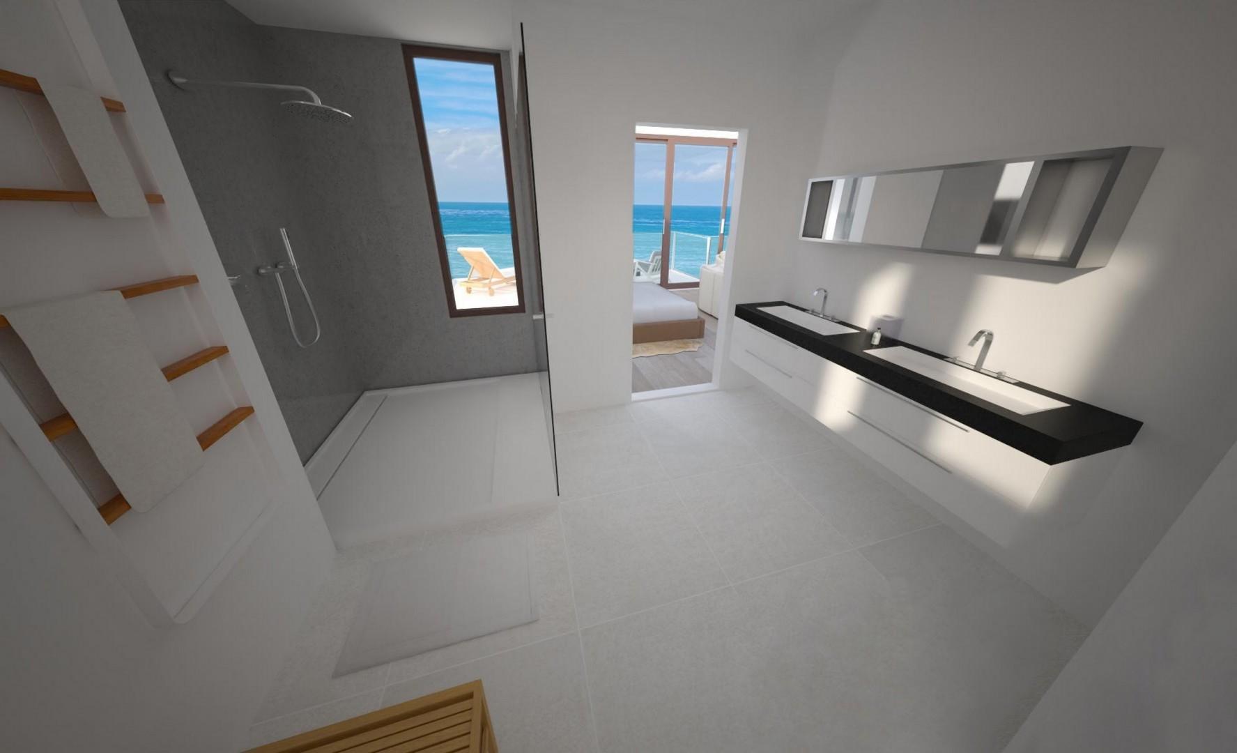 Primary Suite Bathroom with ocean views