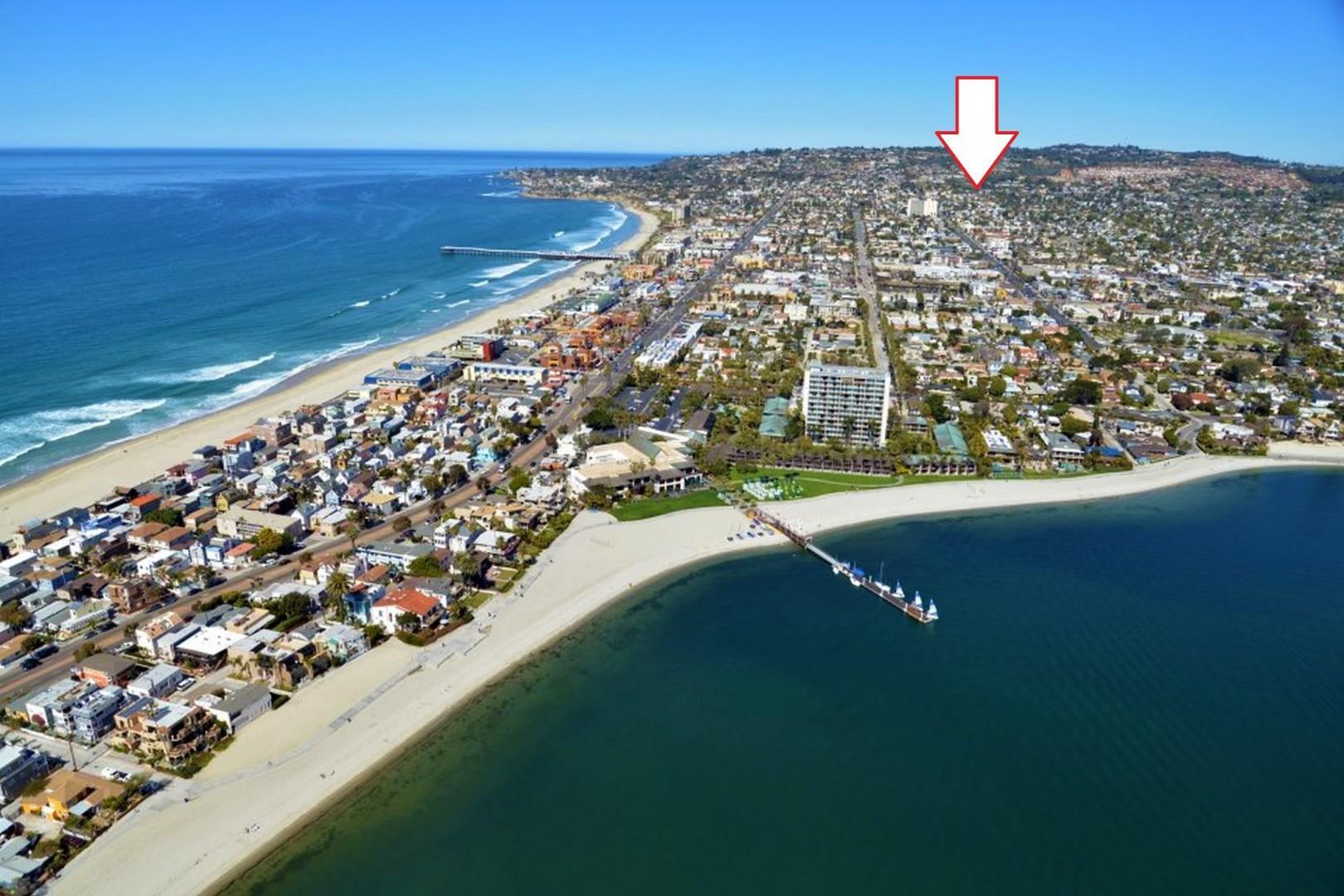 Pacific Beach San Diego arrow