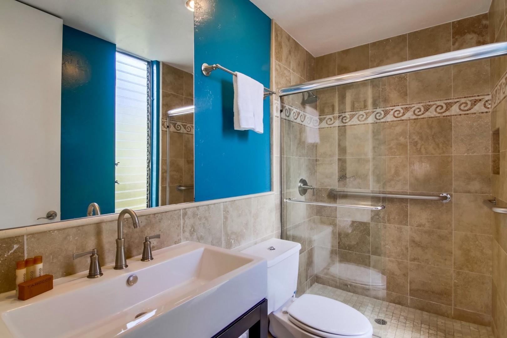 En-suite bathroom with walk-in shower
