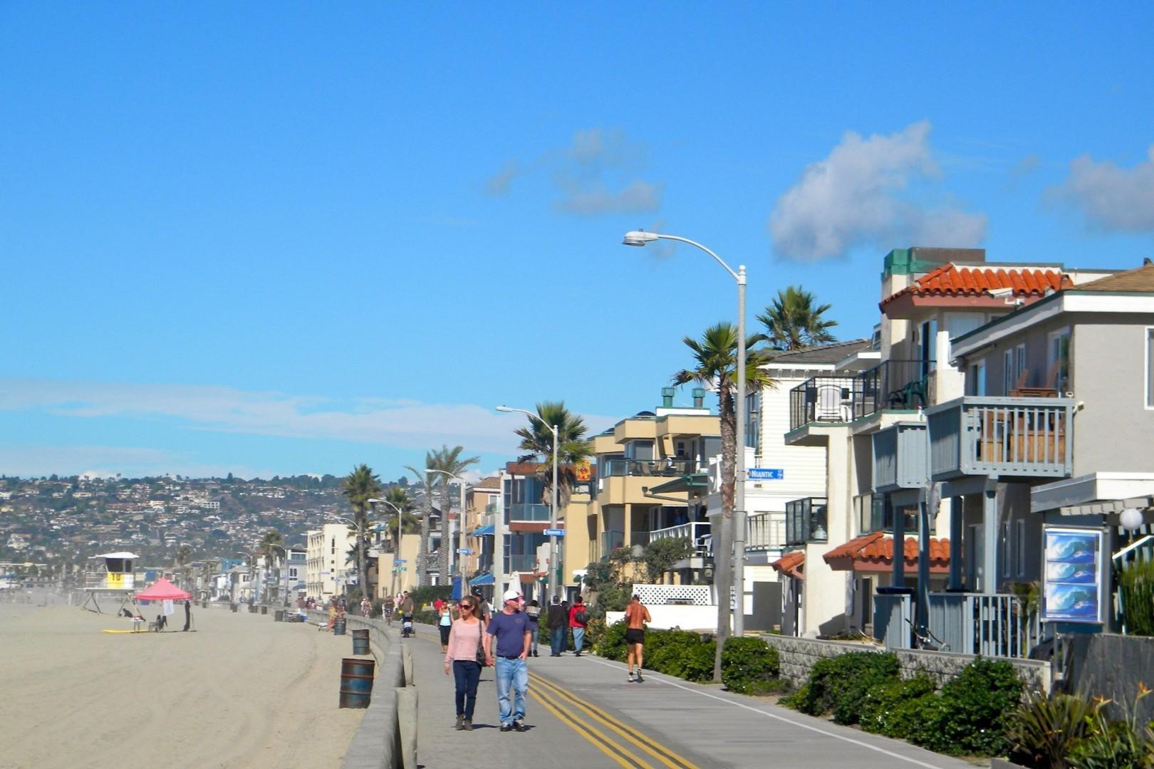 Ocean Front Walk in Mission Beach