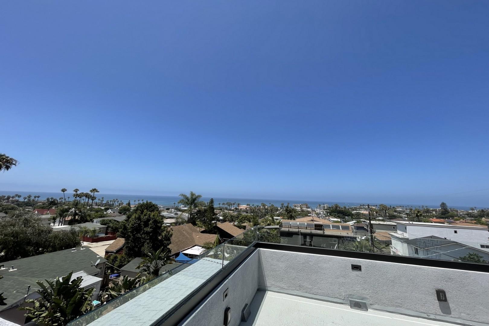 Ocean view rooftop deck