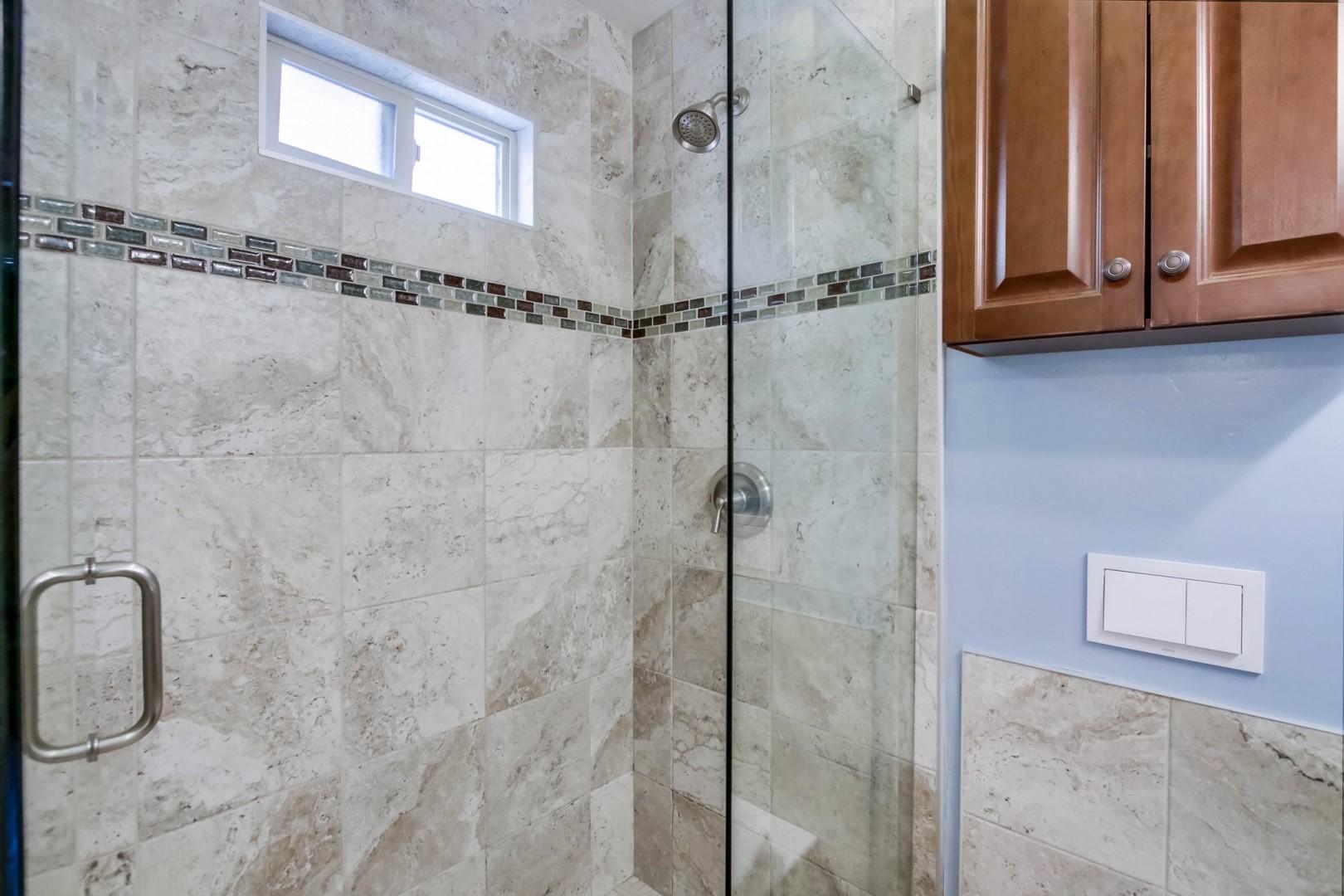 Bedroom 2 walk-in shower