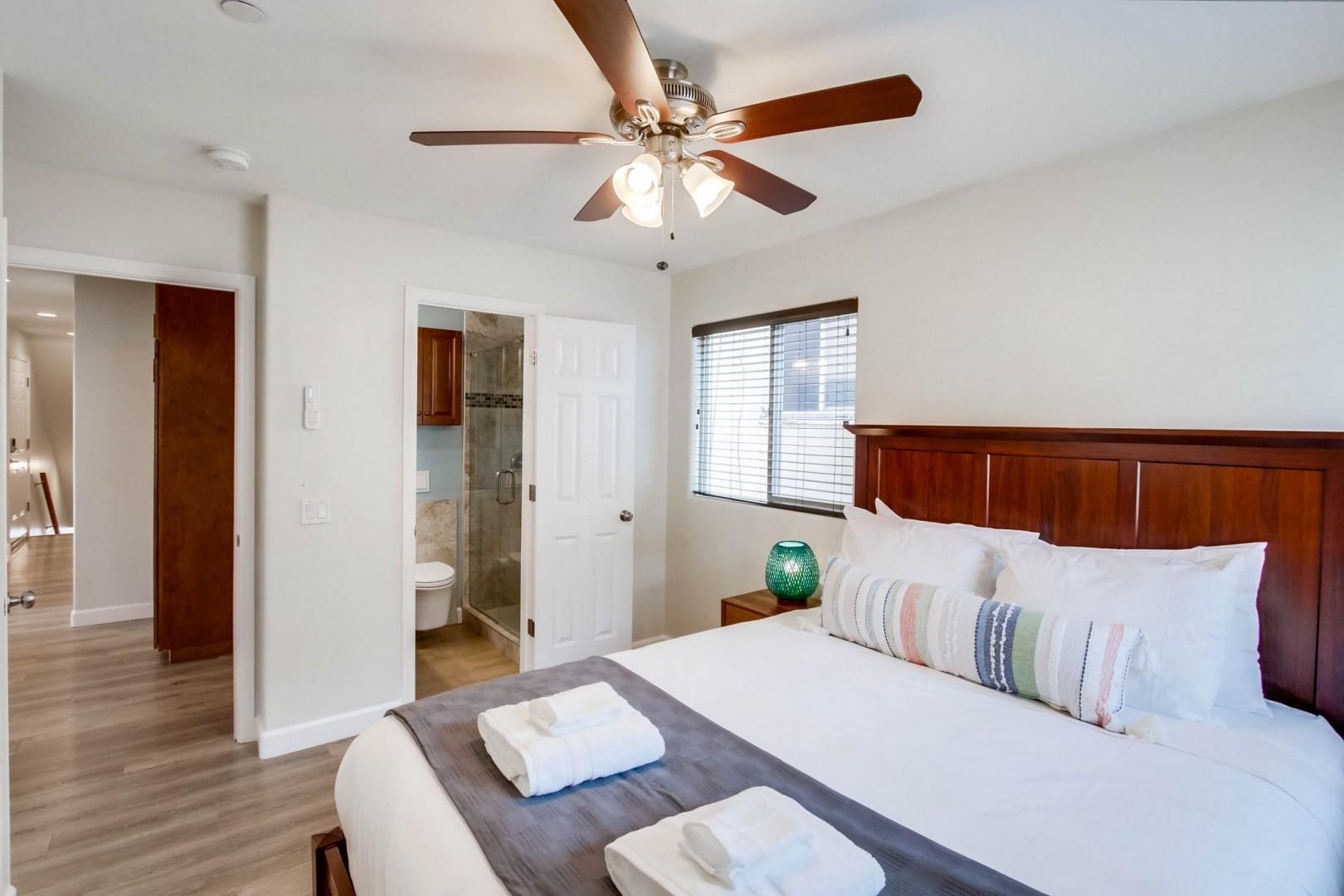 Bedroom 4 with an en-suite bath